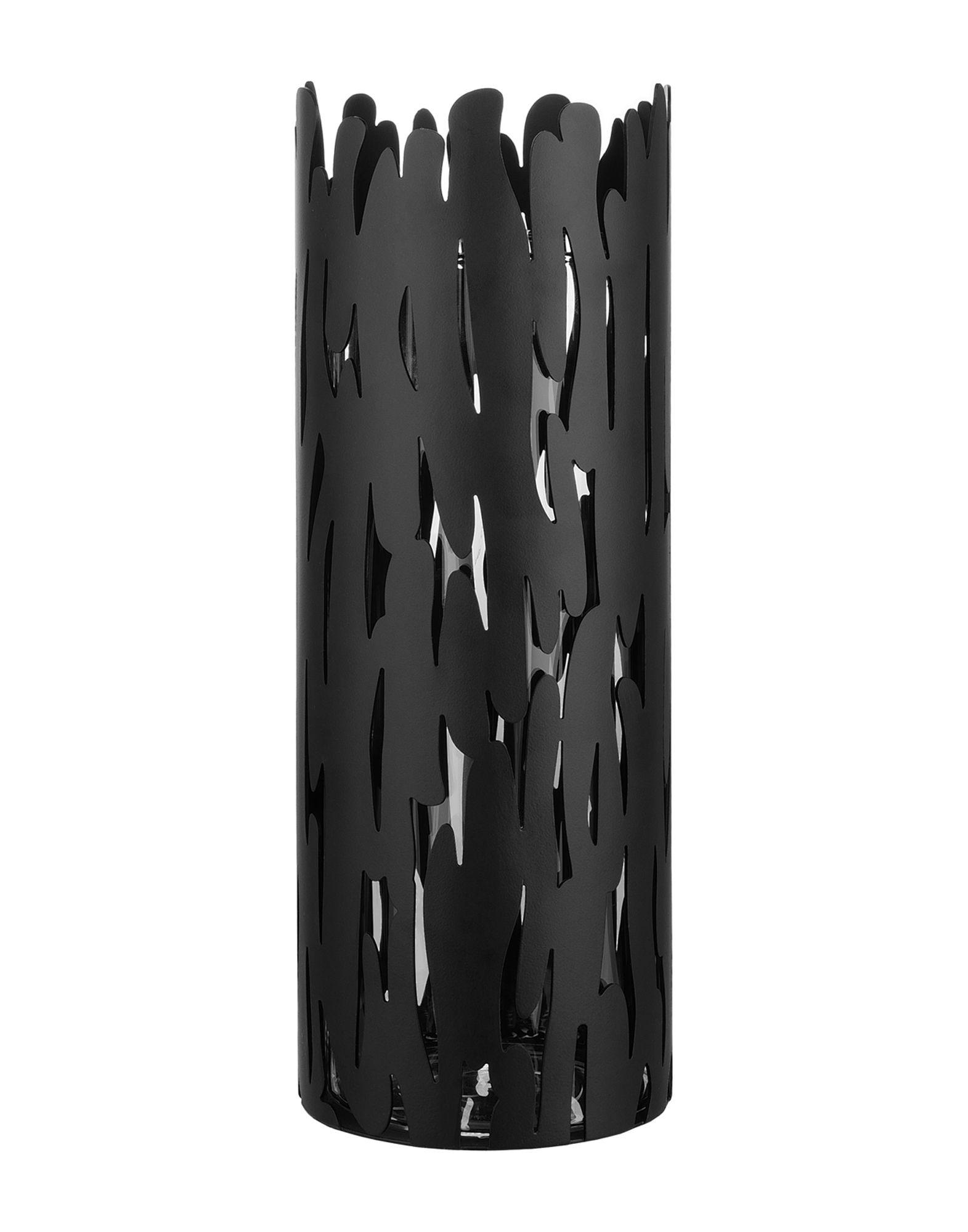 ALESSI Unisex Vase Farbe Schwarz Größe 1