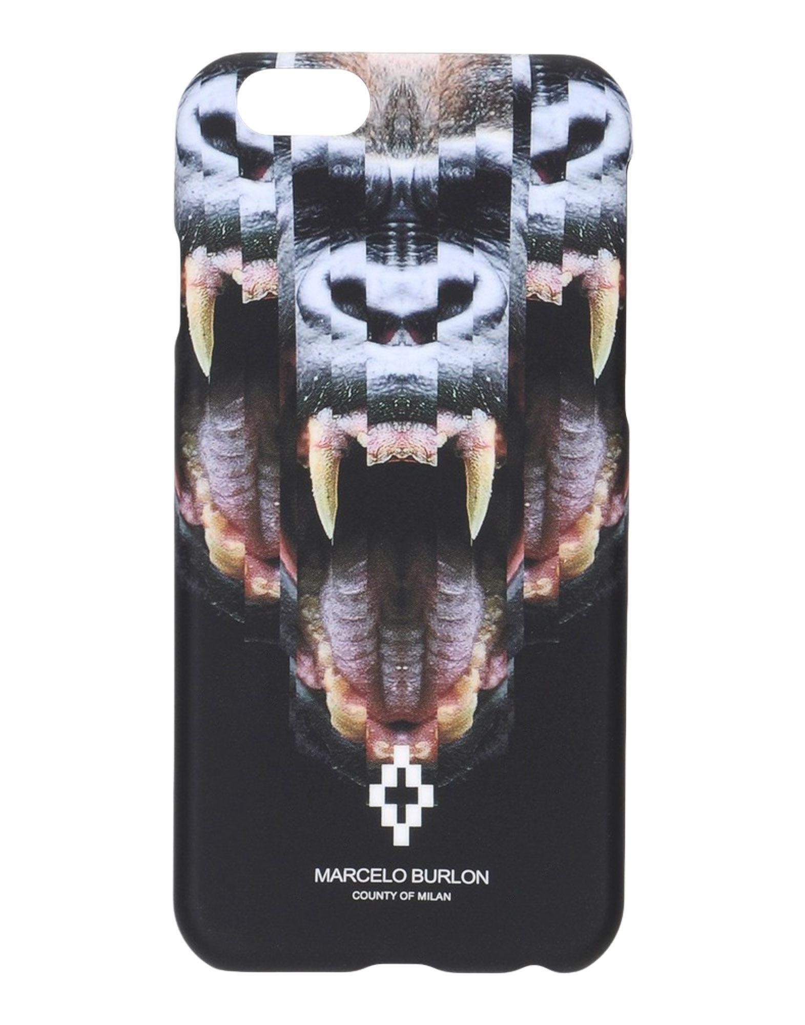 MARCELO BURLON Чехол gumai silky case for iphone 6 6s black