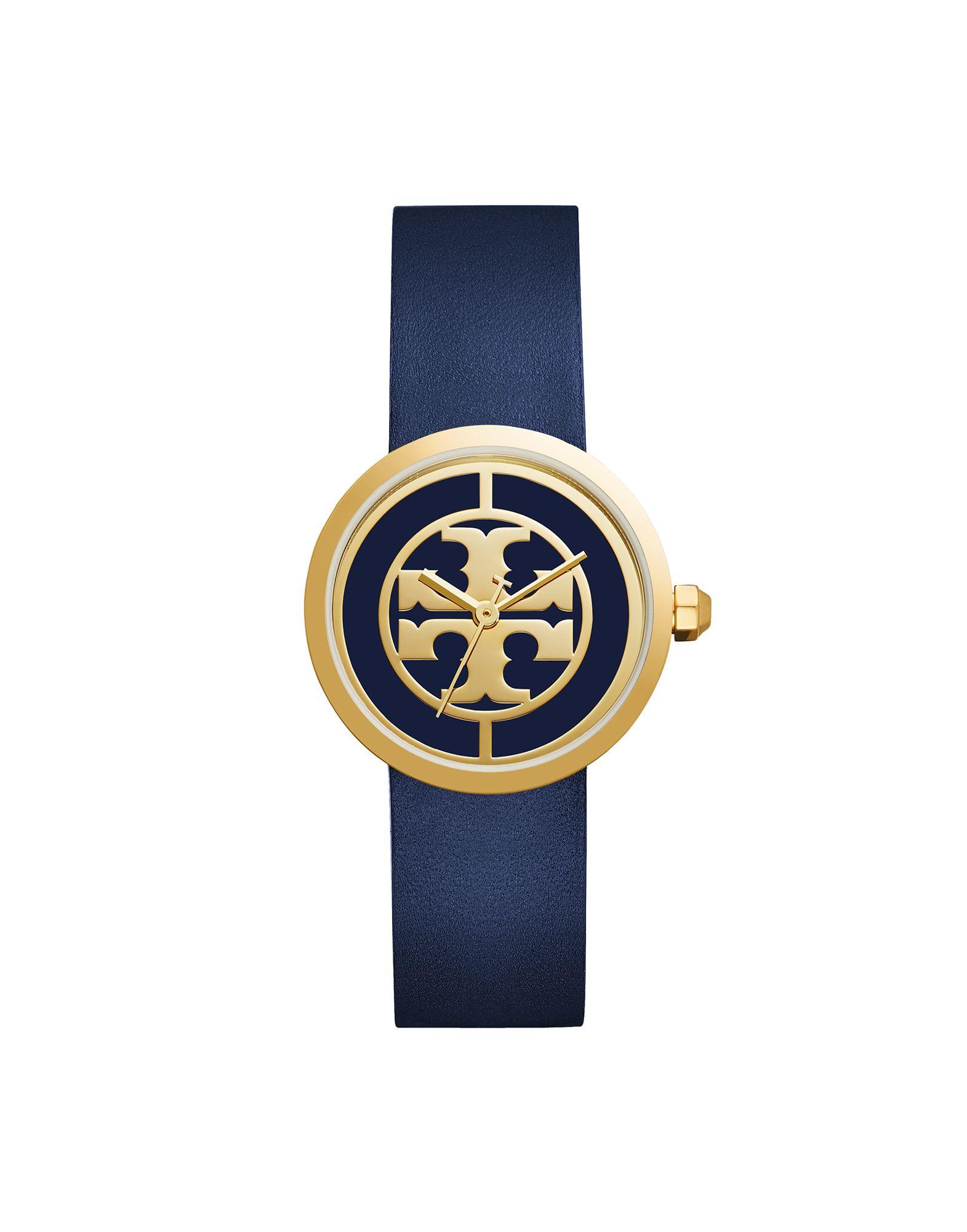 TORY BURCH Damen Armbanduhr Farbe Dunkelblau Größe 1 - broschei