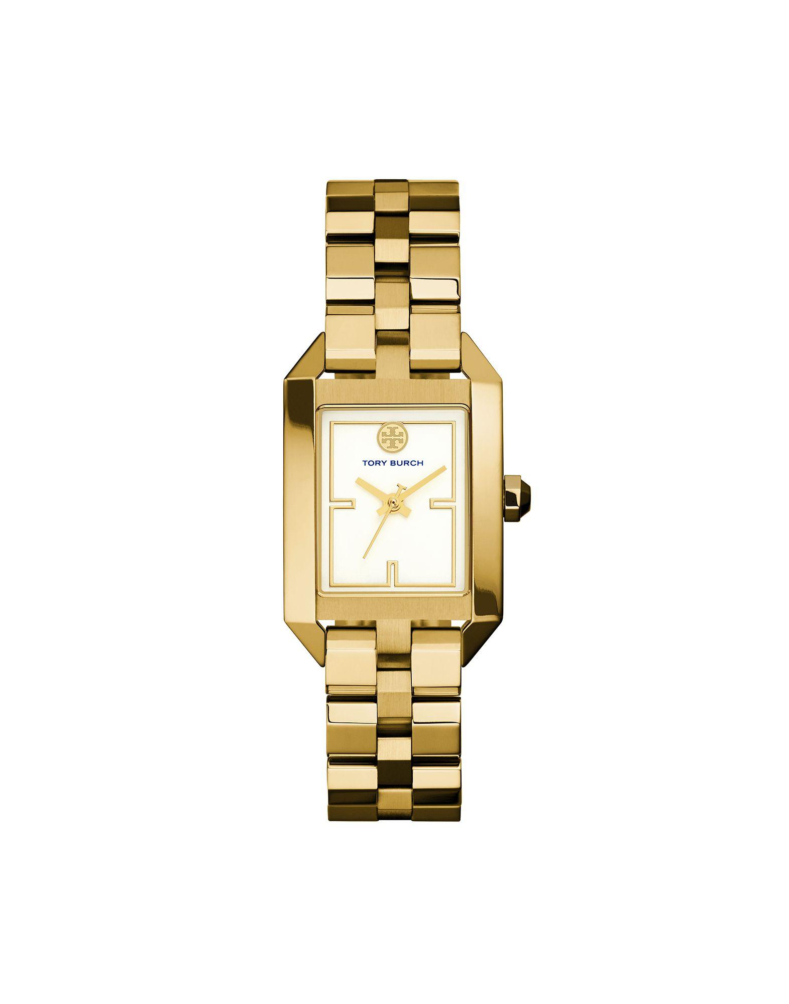 TORY BURCH Damen Armbanduhr Farbe Gold Größe 1 - broschei