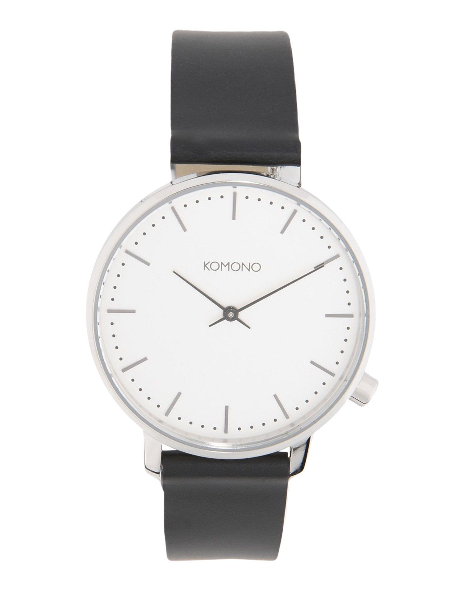 《送料無料》KOMONO Unisex 腕時計 シルバー ステンレススチール