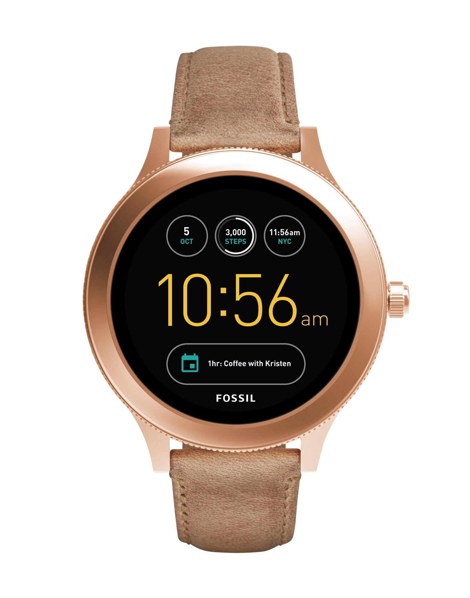 FOSSIL Q Damen Smartwatch Farbe Beige Größe 1 - broschei