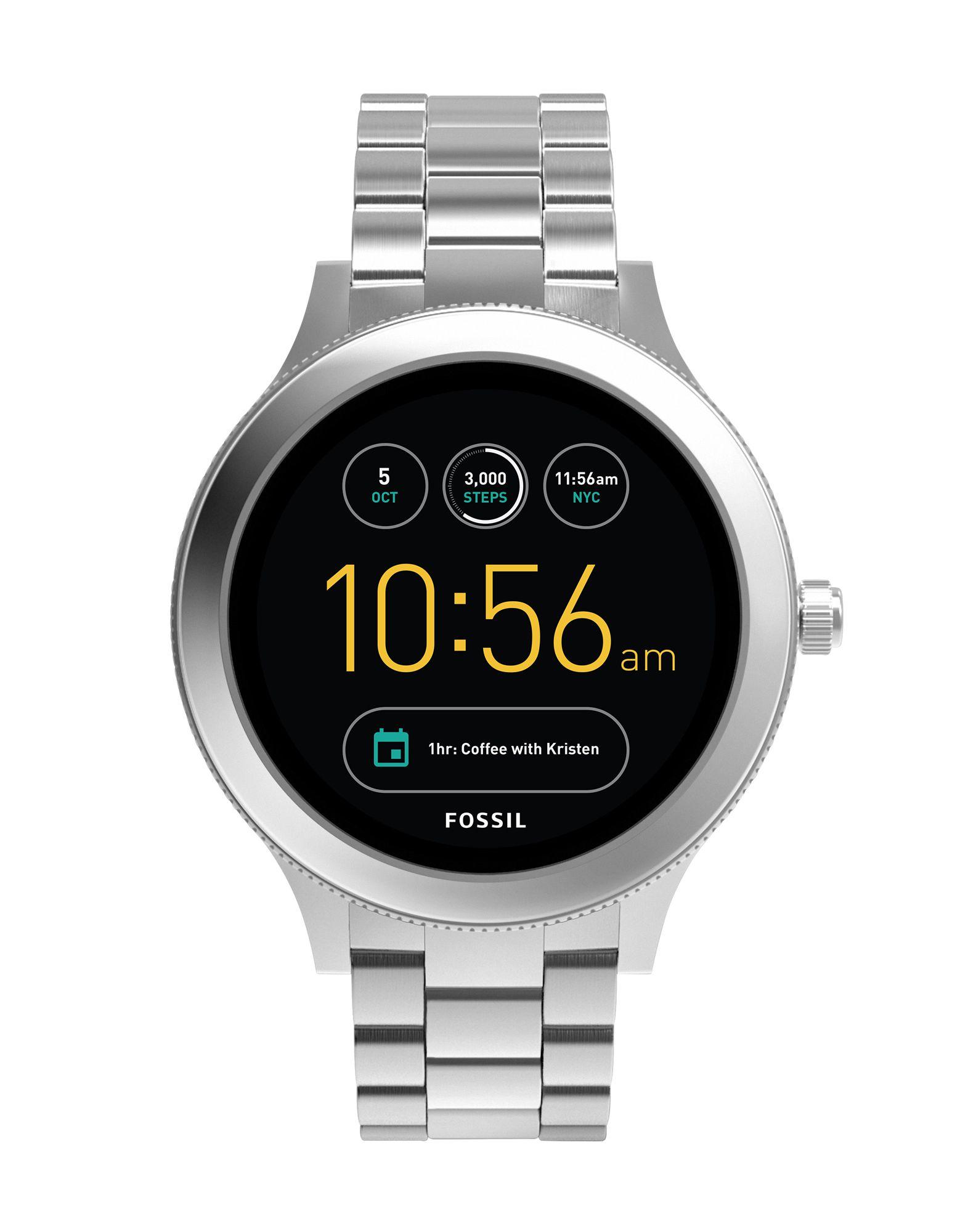FOSSIL Q Damen Smartwatch Farbe Silber Größe 1 - broschei