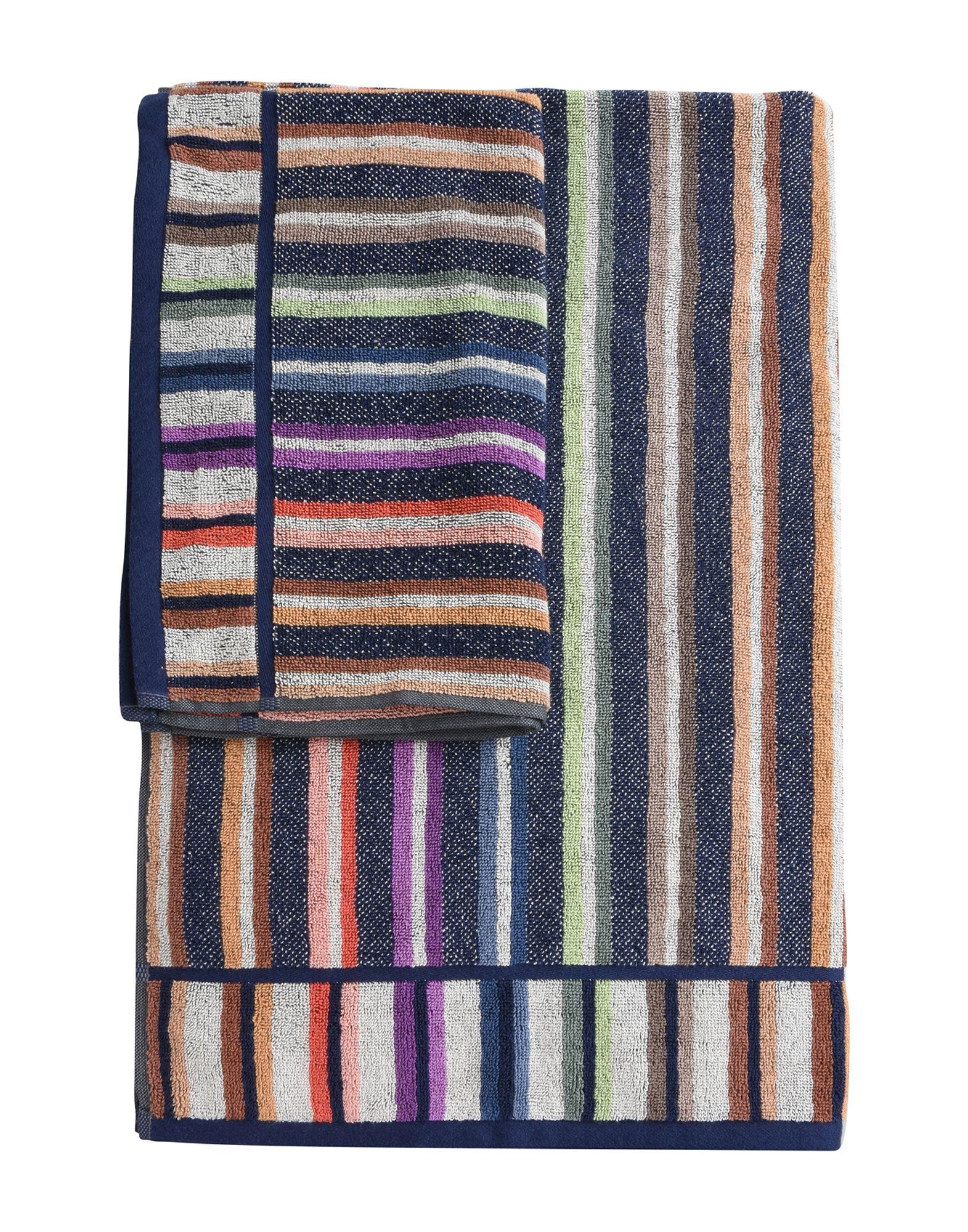 MISSONI HOME Unisex Handtuch Farbe Dunkelblau Größe 1 - broschei