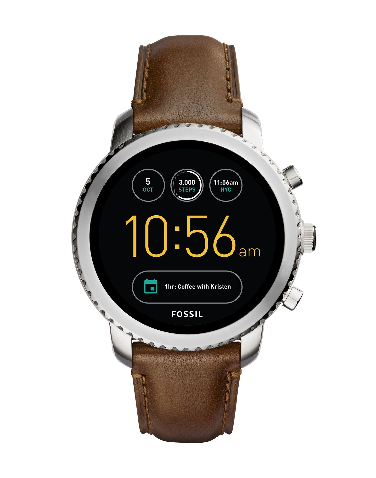 FOSSIL Q Herren Smartwatch Farbe Dunkelbraun Größe 1 - broschei