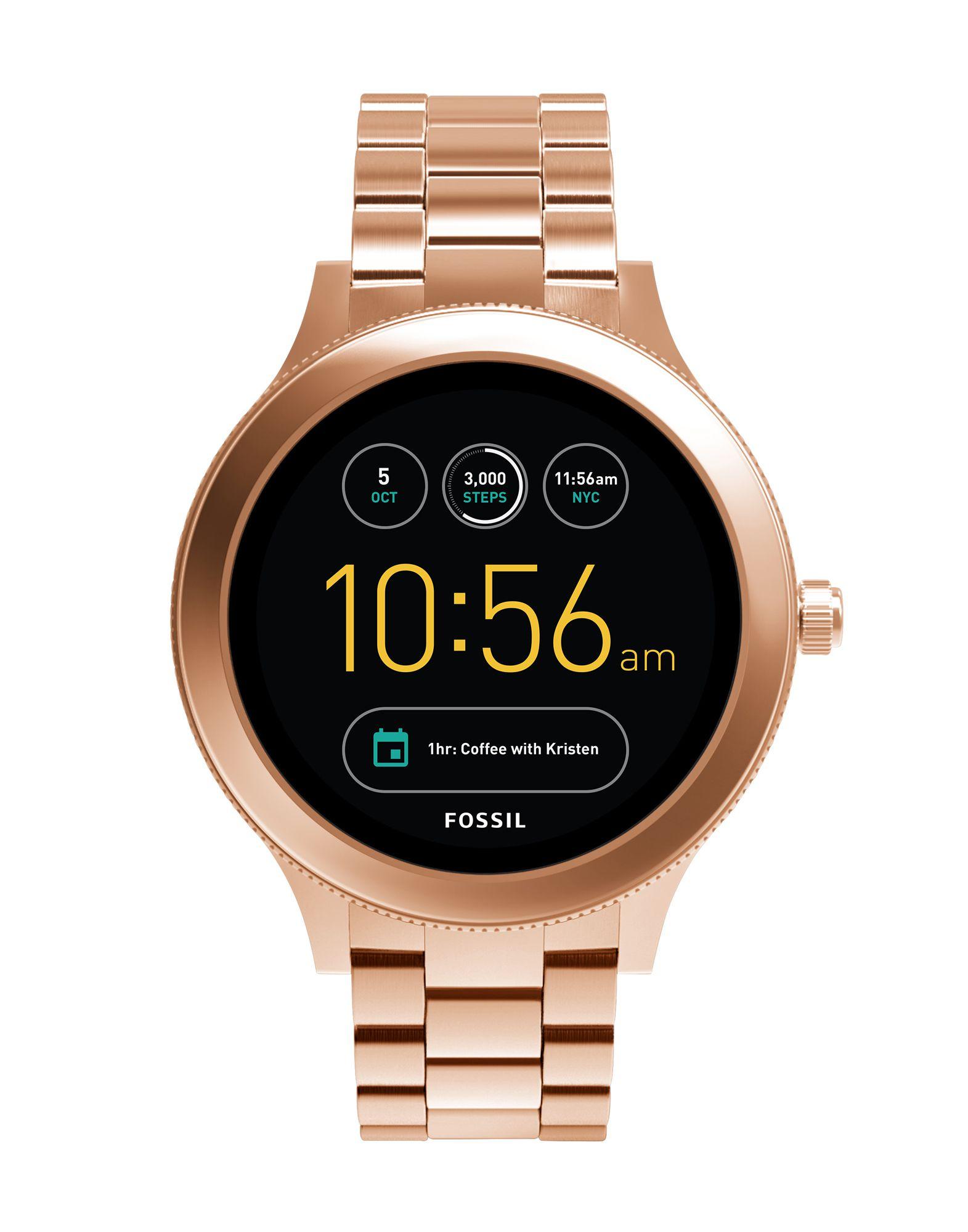 FOSSIL Q Damen Smartwatch Farbe Bronze Größe 1