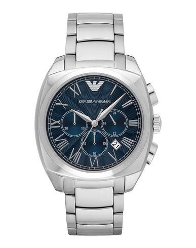 EMPORIO ARMANI メンズ 腕時計 シルバー スチール