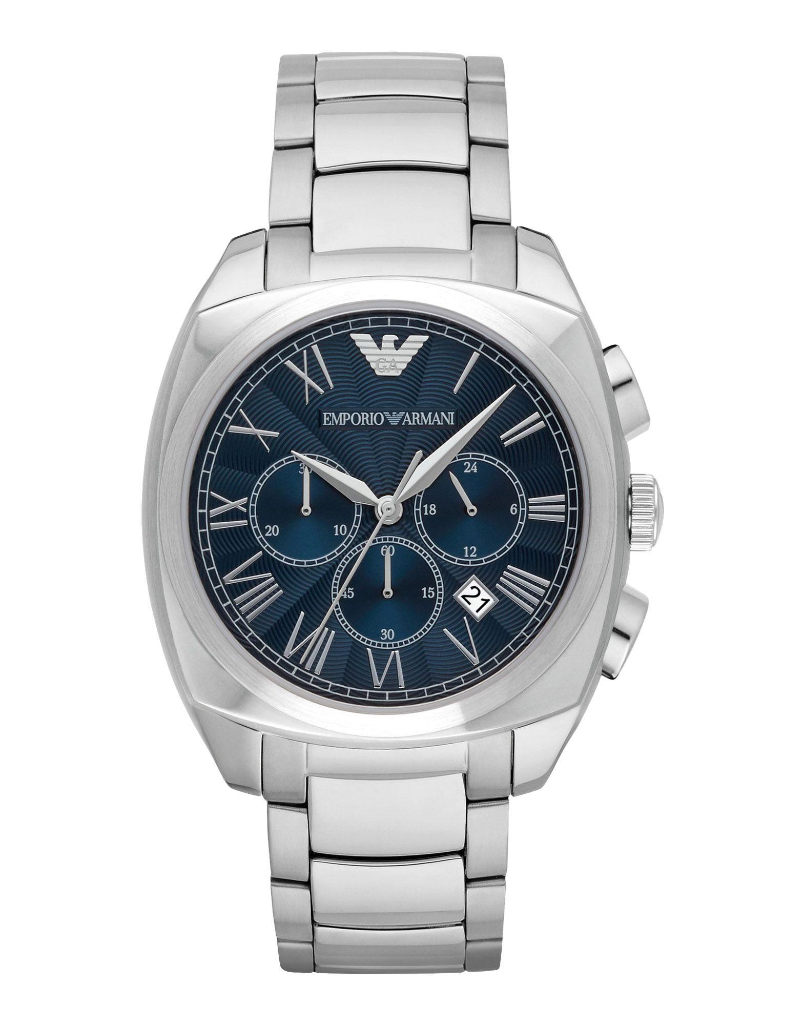 EMPORIO ARMANI Herren Armbanduhr Farbe Silber Größe 1 - broschei
