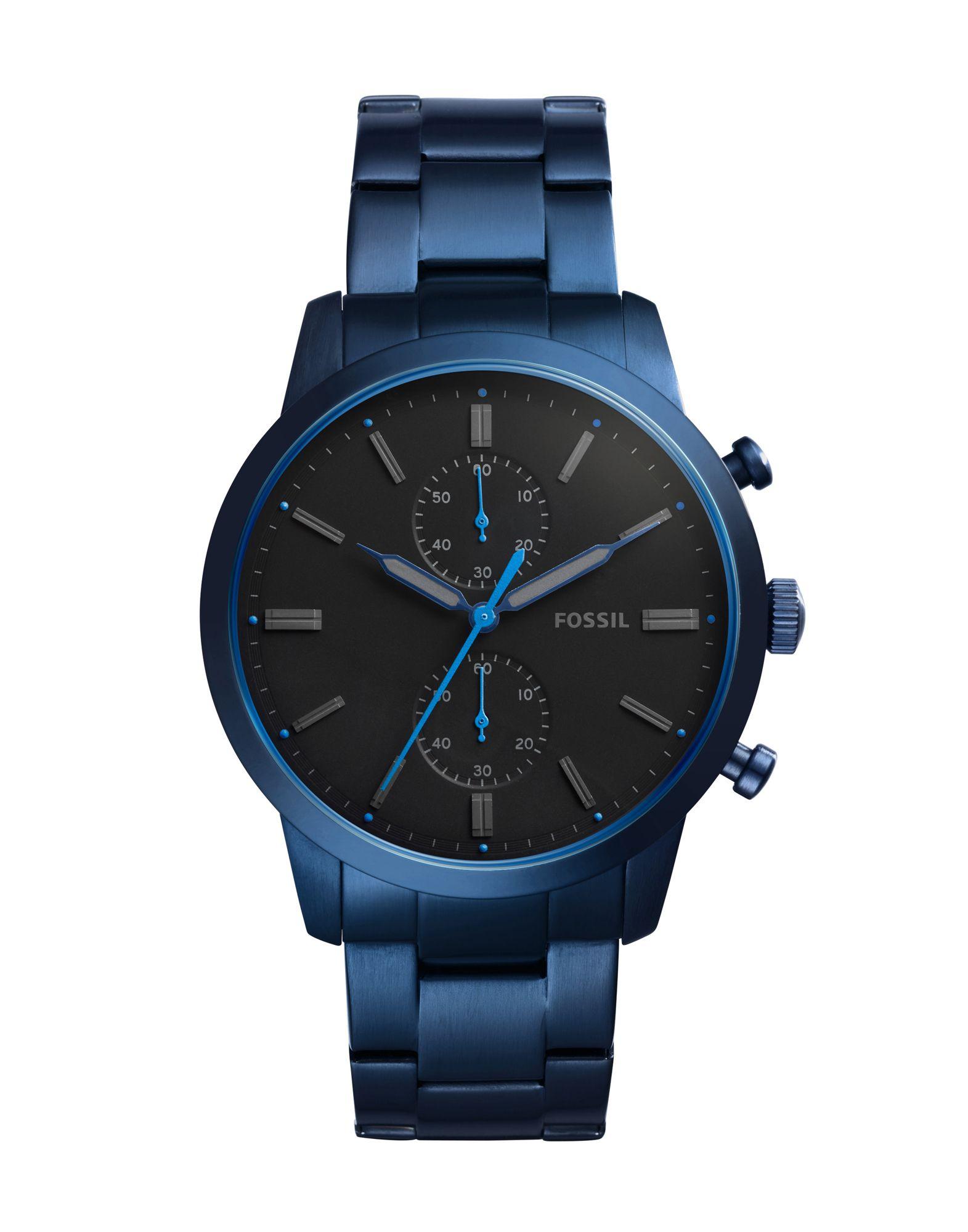 メンズ FOSSIL TOWNSMAN 腕時計 ブラック
