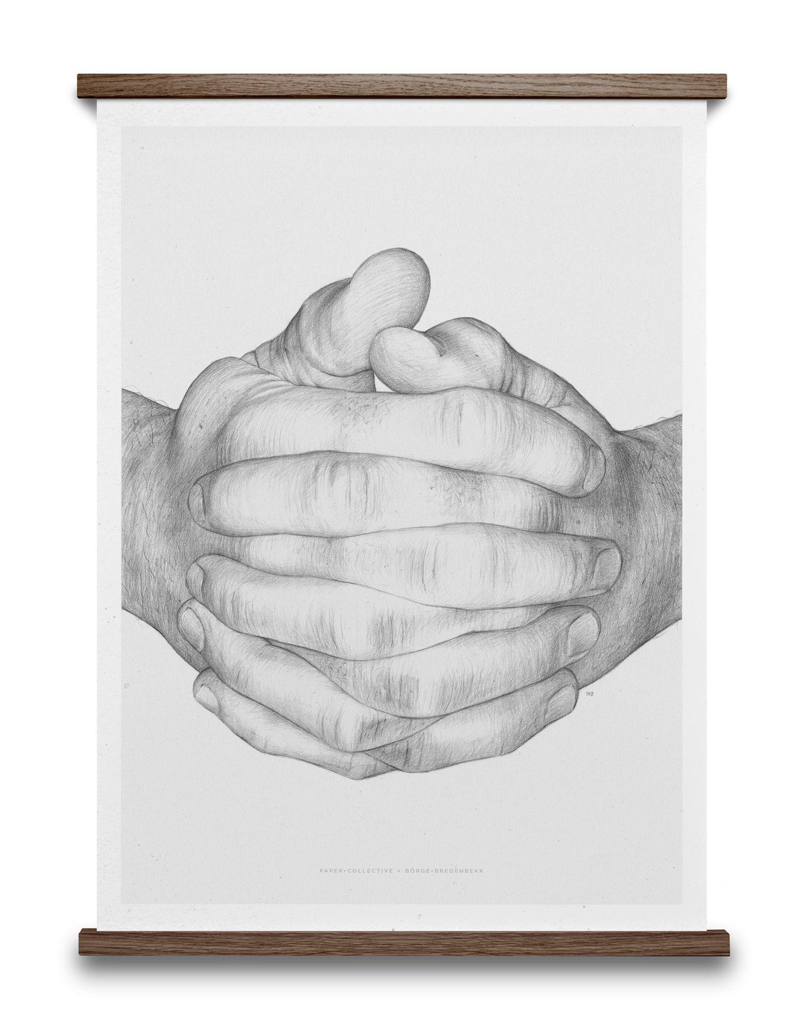 《セール開催中》PAPER COLLECTIVE Unisex デコレーション (-) 指定外繊維(紙) Folded Hands Grey