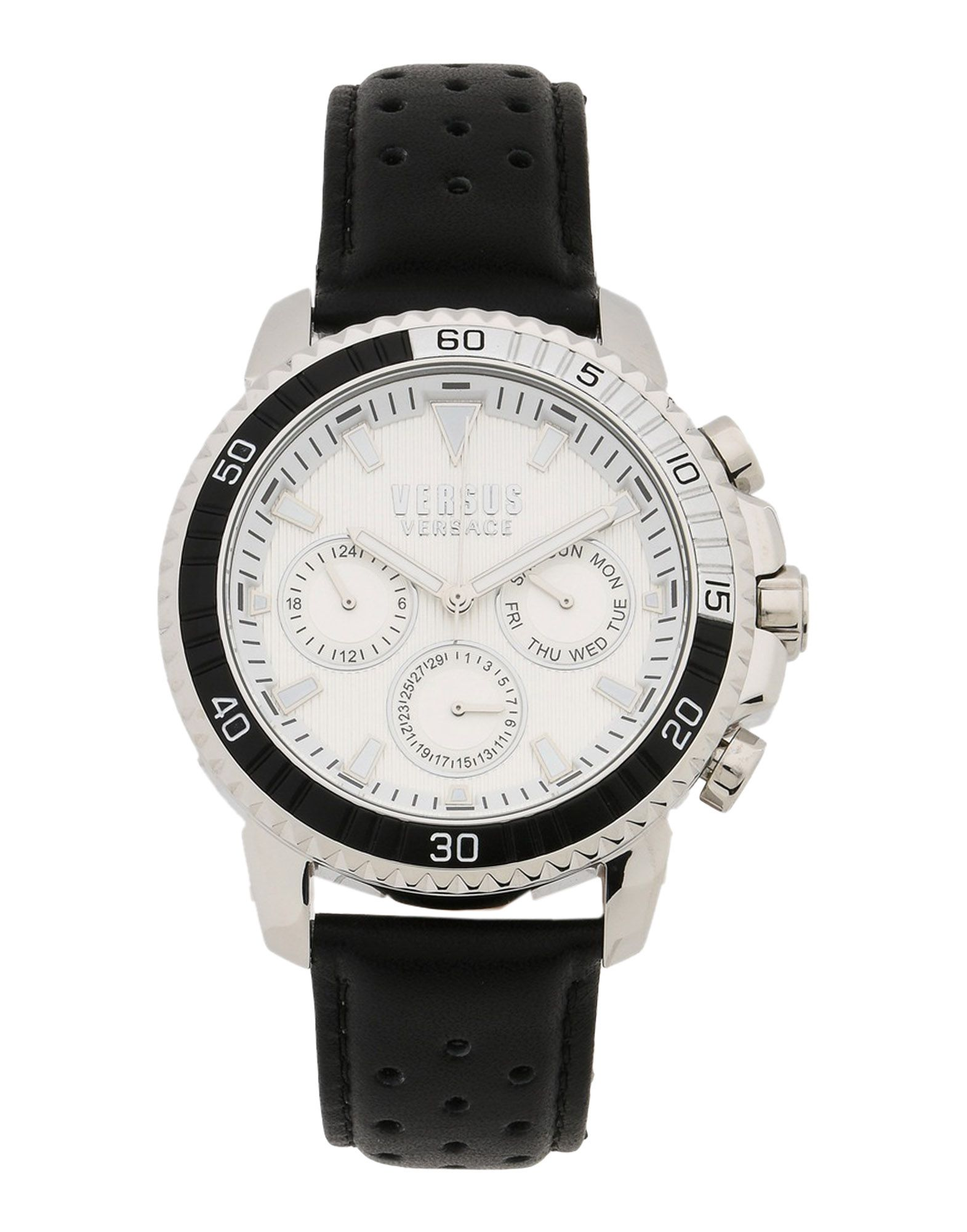 《送料無料》VERSUS VERSACE メンズ 腕時計 ホワイト 革 / ステンレススチール ABERDEEN bi