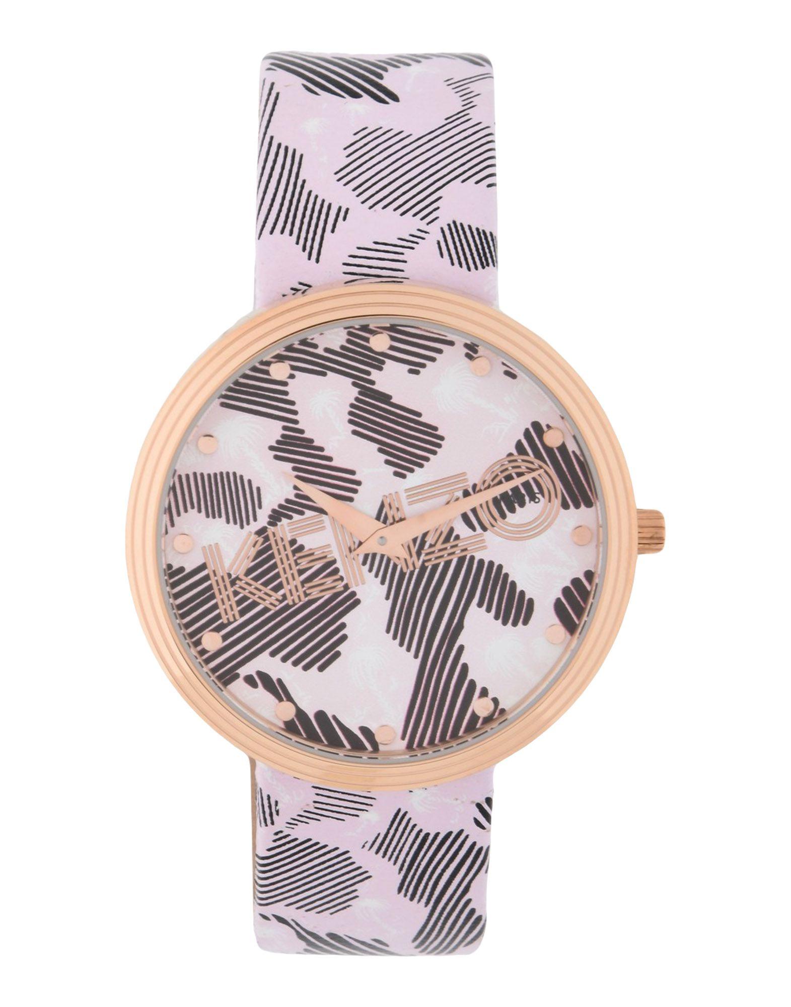 《送料無料》KENZO レディース 腕時計 ライトピンク ステンレススチール / 革 IT-PRINT