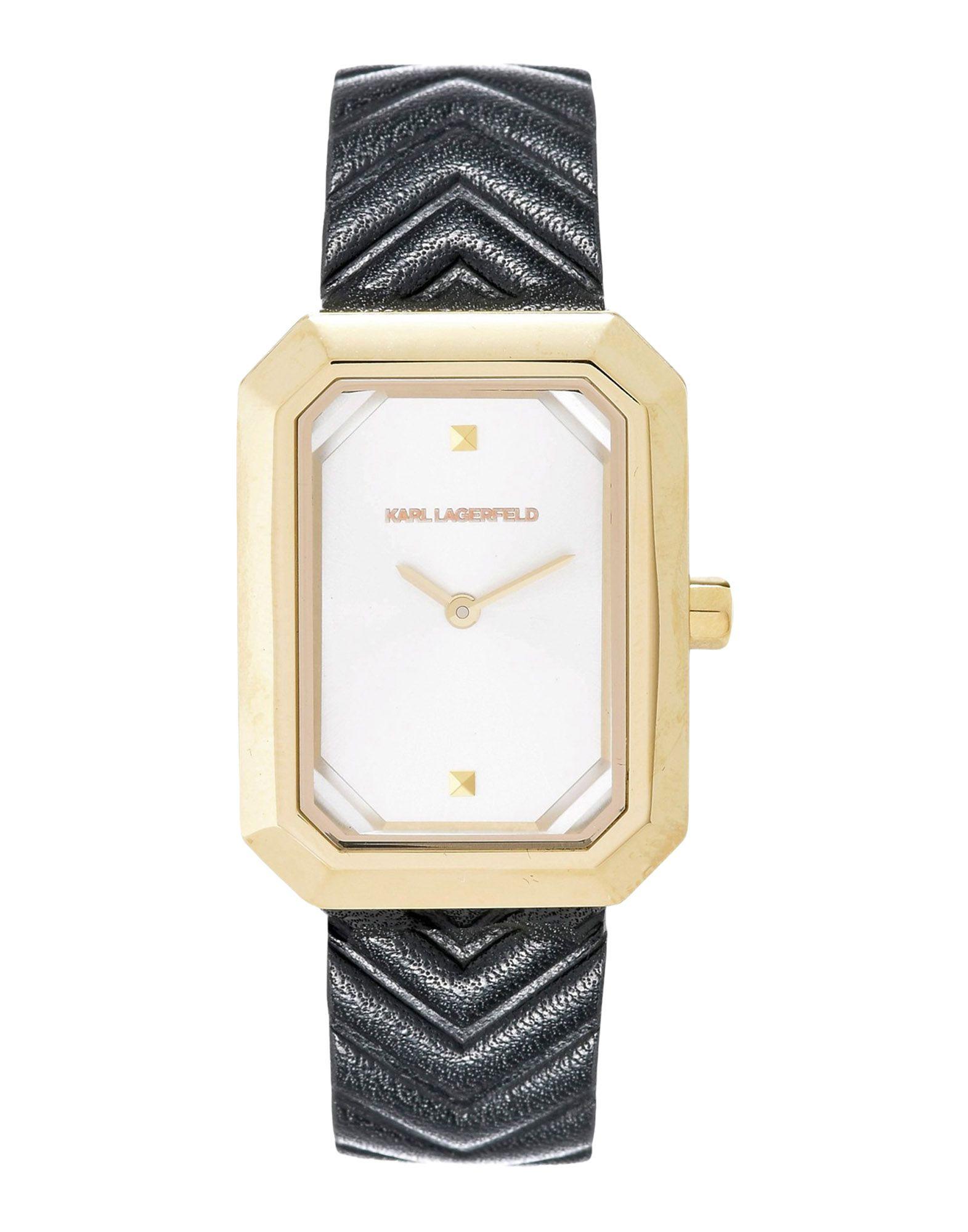 《送料無料》KARL LAGERFELD レディース 腕時計 ゴールド ステンレススチール / 革 LINDA