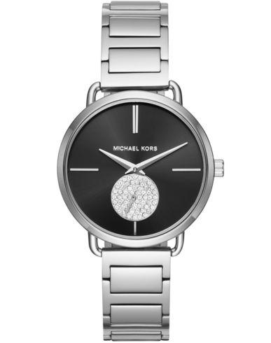 MICHAEL KORS Damen Armbanduhr Silber Edelstahl