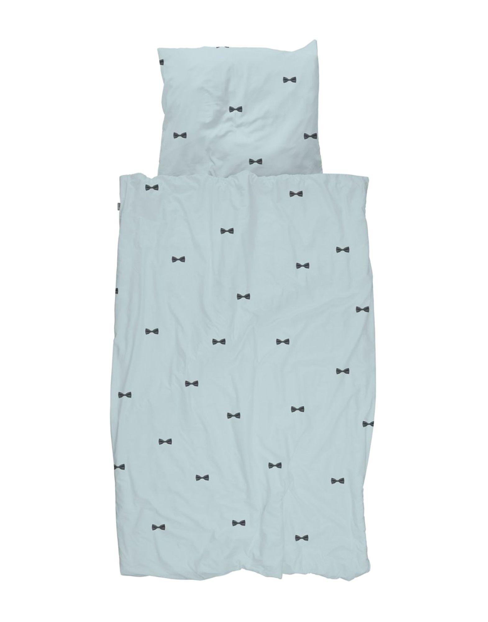 《セール開催中》SNURK メンズ 寝具セット(ピローケース+シーツ+羽毛カバー) スカイブルー コットン 100%