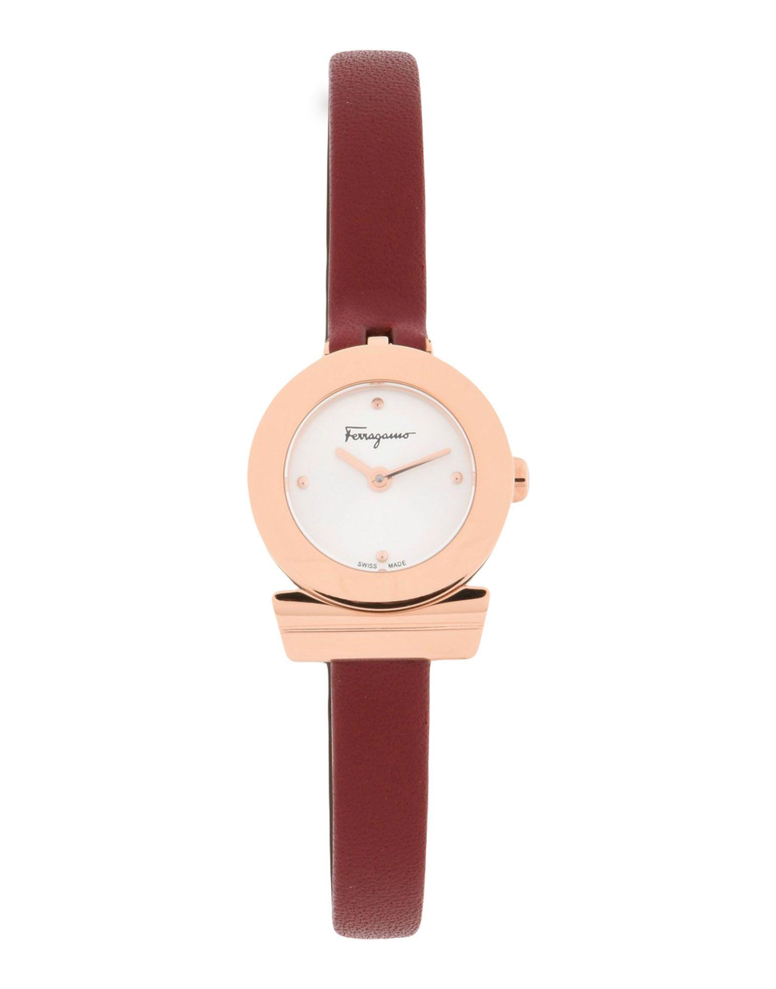 《送料無料》SALVATORE FERRAGAMO レディース 腕時計 レッド ステンレススチール / 革 GANCINO BRACELET