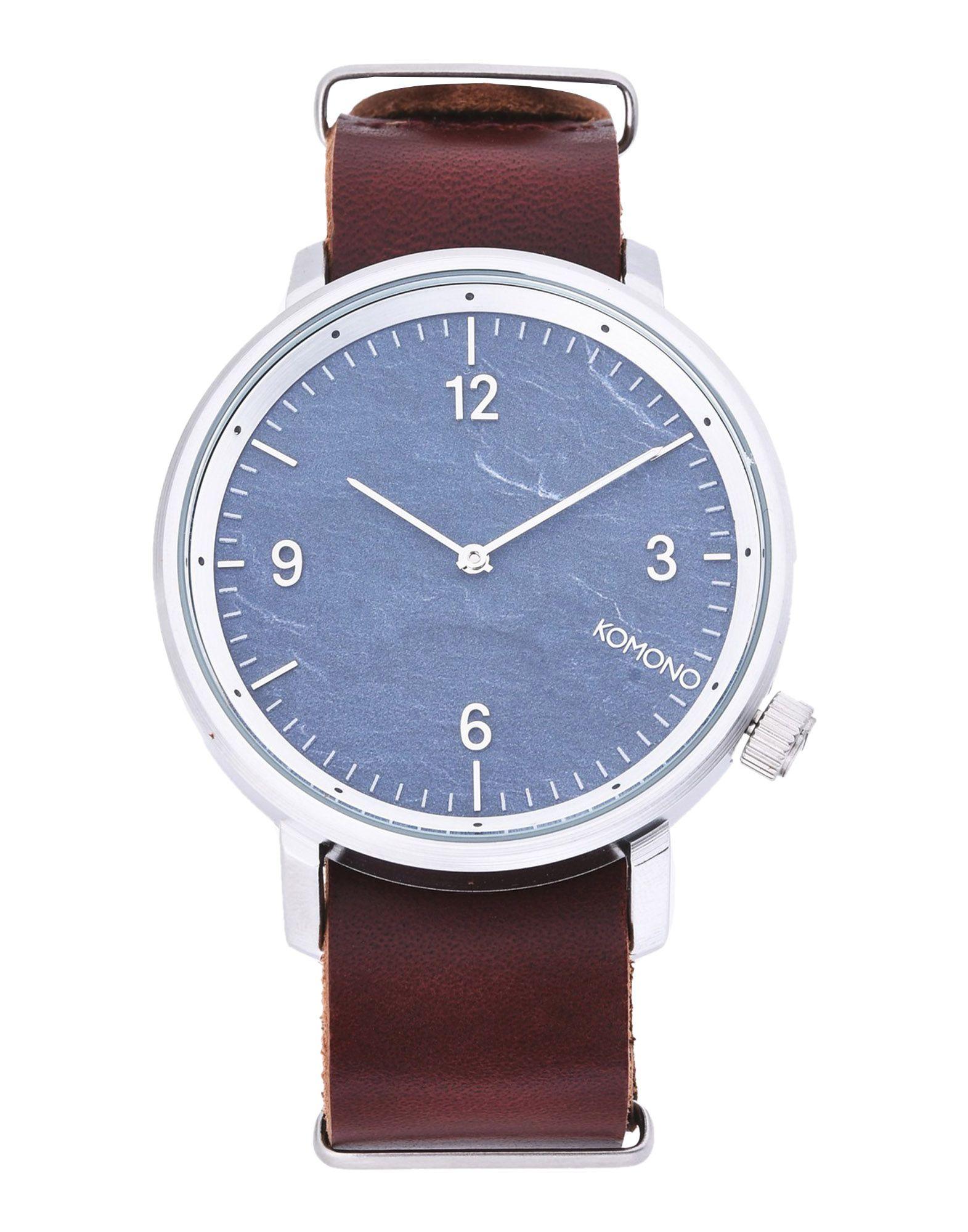 《セール開催中》KOMONO メンズ 腕時計 ブルー ステンレススチール / 革 KOM-W1942 MAGNUS II WATCHES