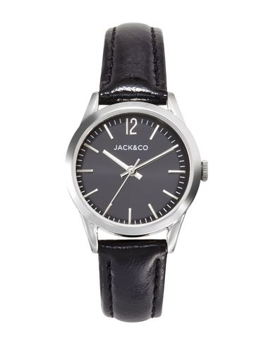 JACK&CO Damen Armbanduhr Schwarz Edelstahl