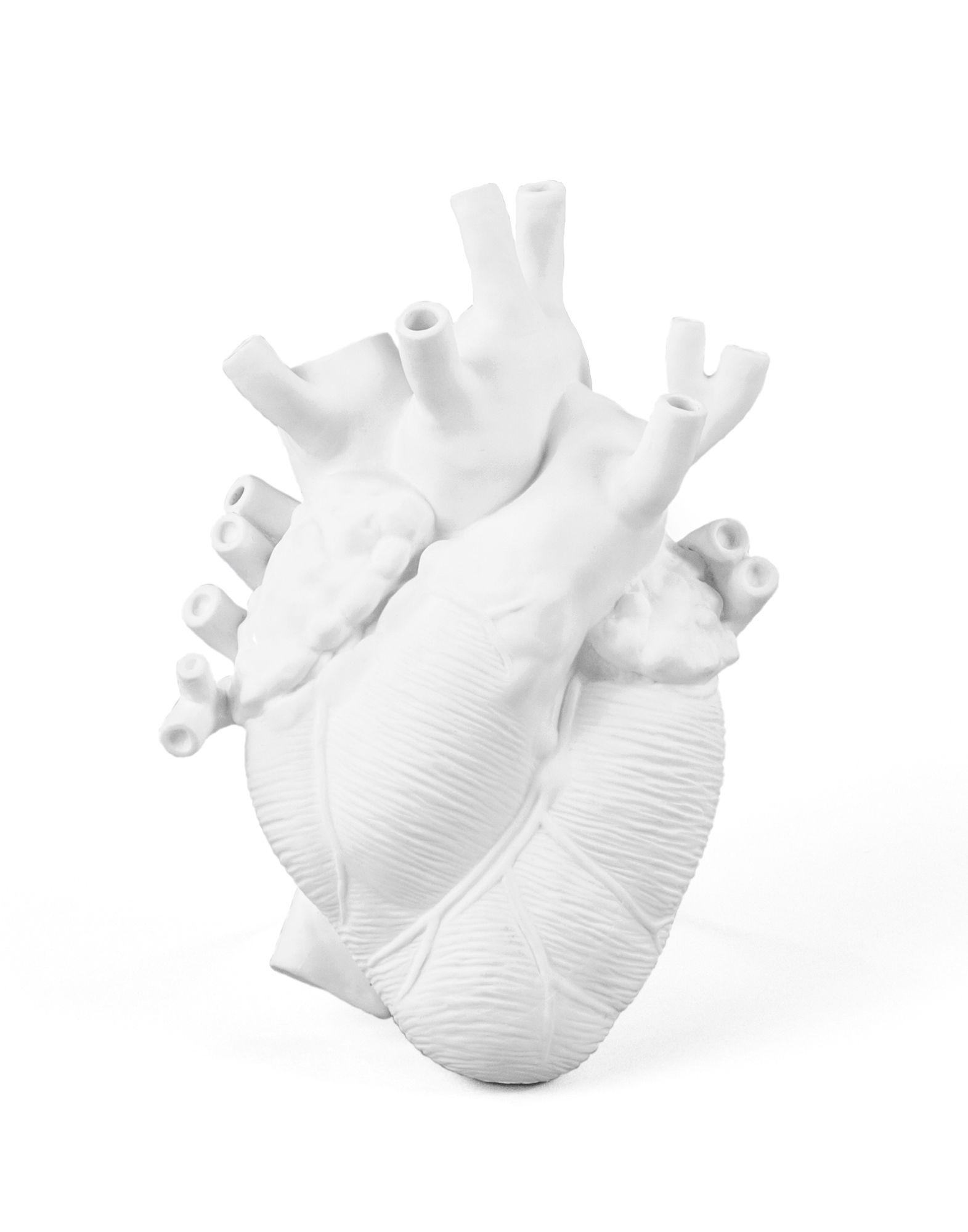 《セール開催中》SELETTI Unisex ベース ホワイト セラミック 100% LOVE IN BLOOM