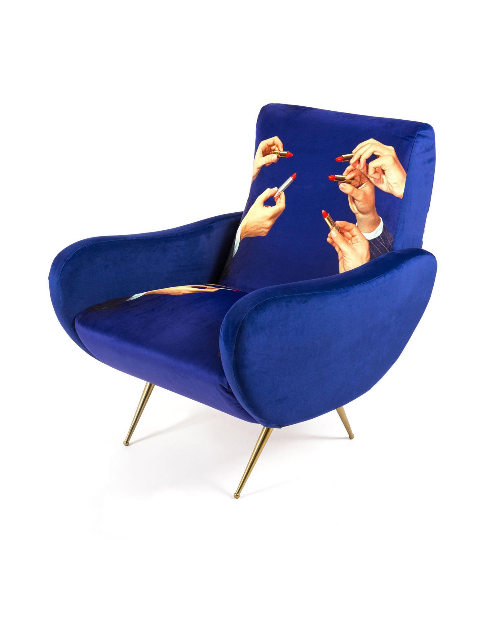SELETTI WEARS TOILETPAPER Unisex Sessel Farbe Blau Größe 1 jetztbilligerkaufen