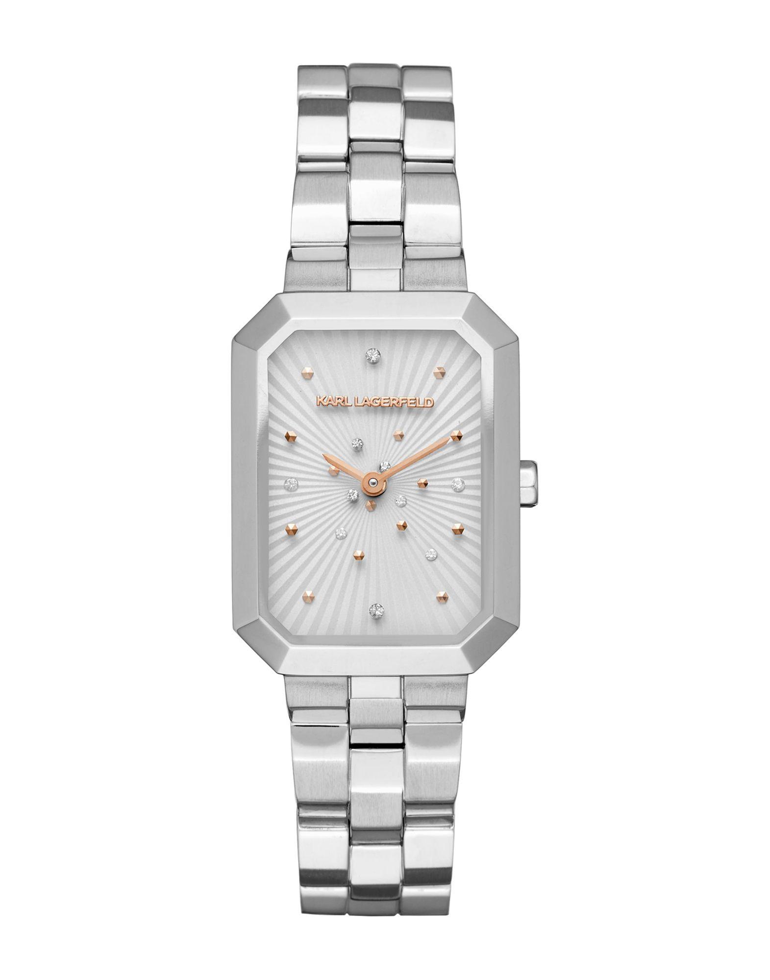 《送料無料》KARL LAGERFELD レディース 腕時計 シルバー スチール LINDA