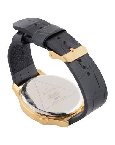 KOMONO Herren Armbanduhr Schwarz Leder Metall Stahl
