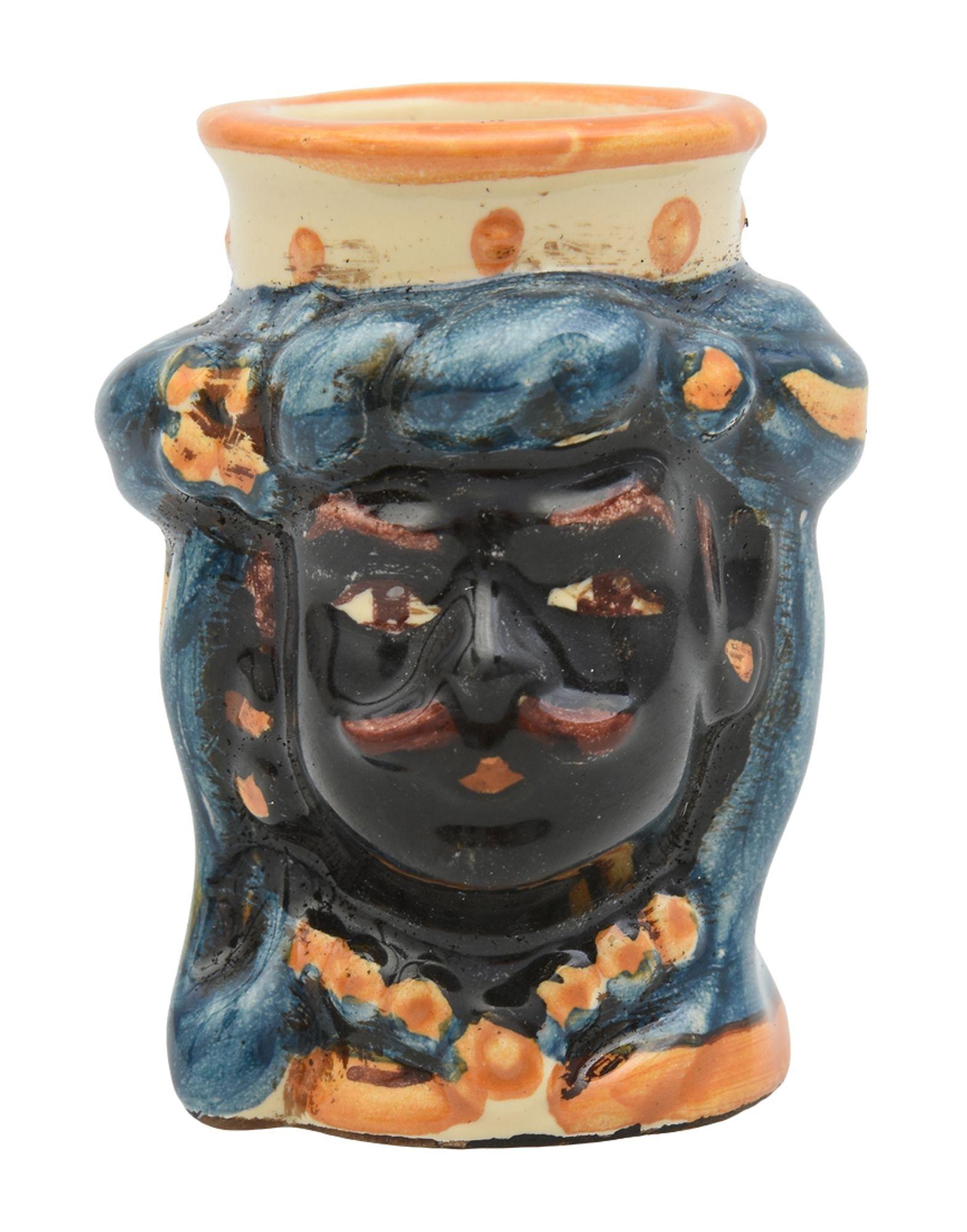CERAMICHE SOFIA DI CALTAGIRONE Ваза вставка impronta ceramiche scrapwood fire tozzetto sq 5x15