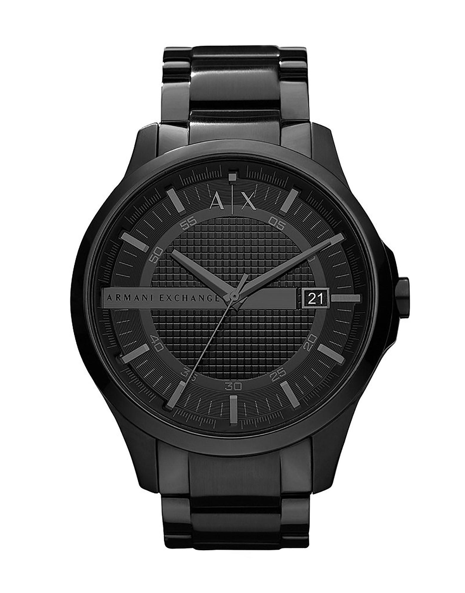 ARMANI EXCHANGE メンズ 腕時計 ブラック ステンレススチール