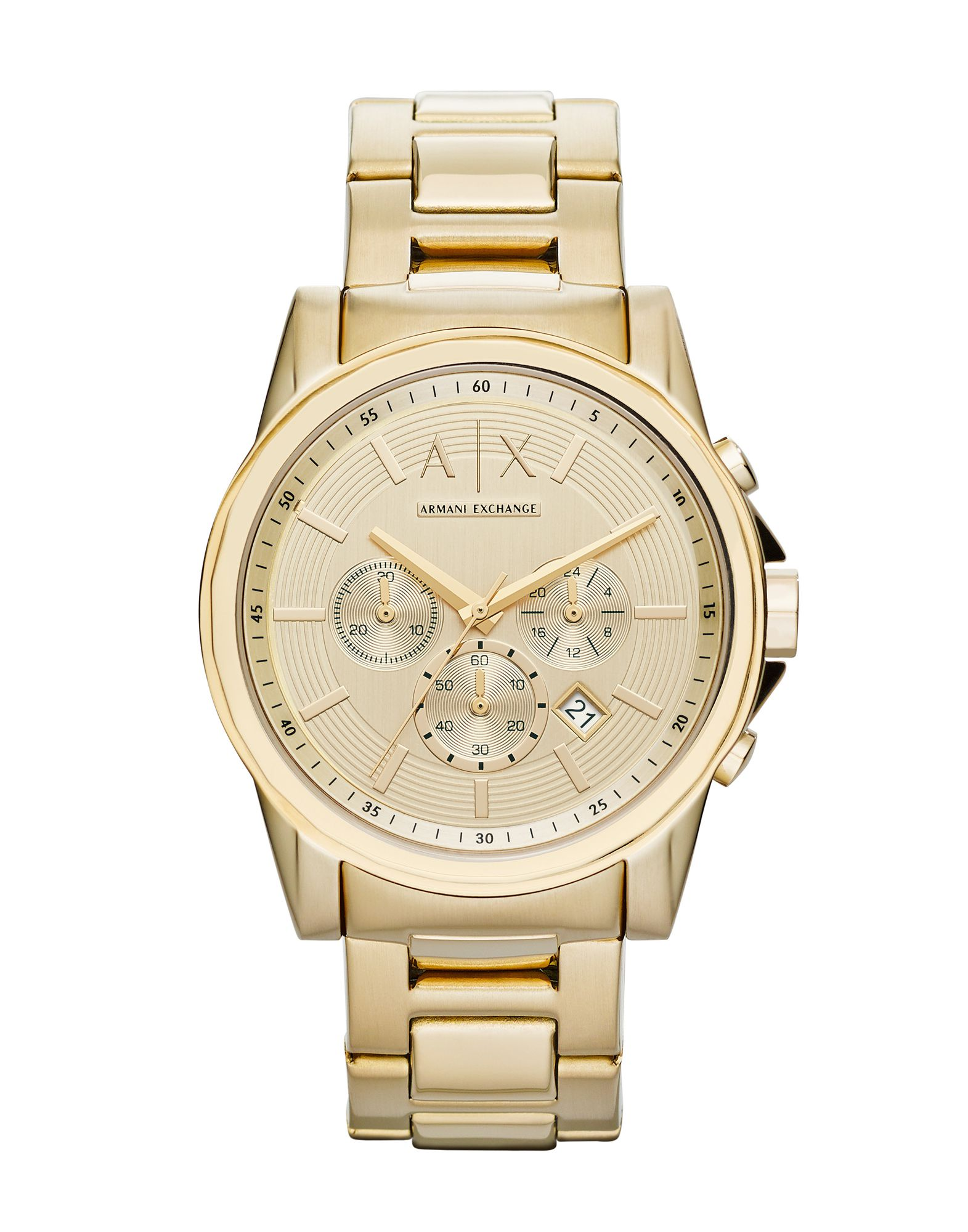 ARMANI EXCHANGE メンズ 腕時計 ゴールド ステンレススチール