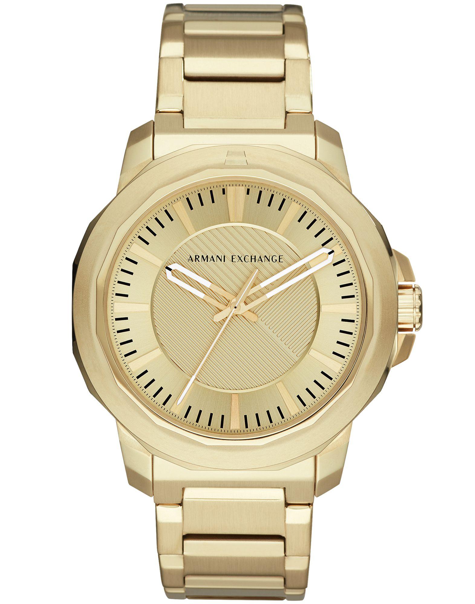 ARMANI EXCHANGE メンズ 腕時計 プラチナ ステンレススチール