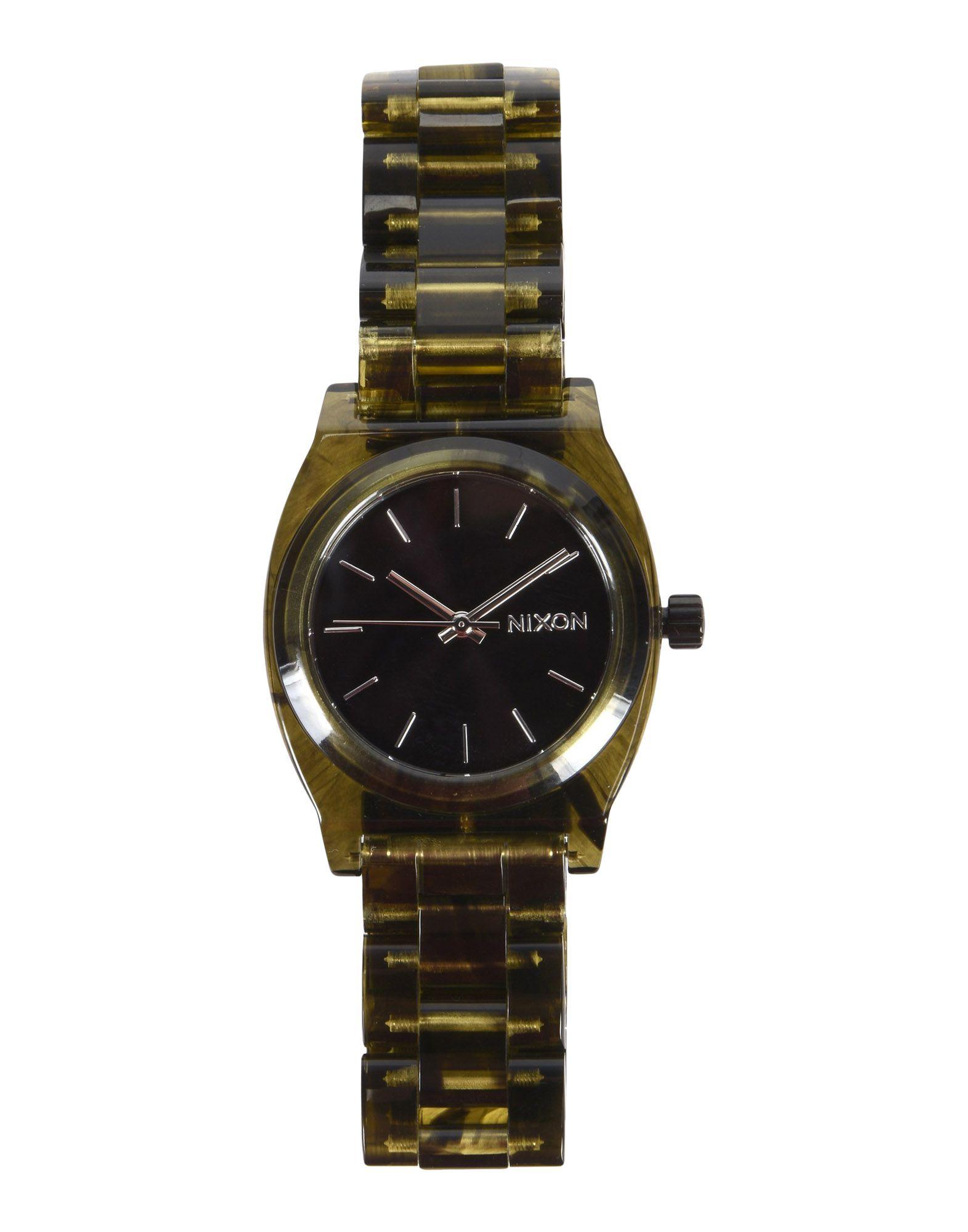 《送料無料》NIXON レディース 腕時計 ブラック アセテート 100% Medium Time Teller Acetate