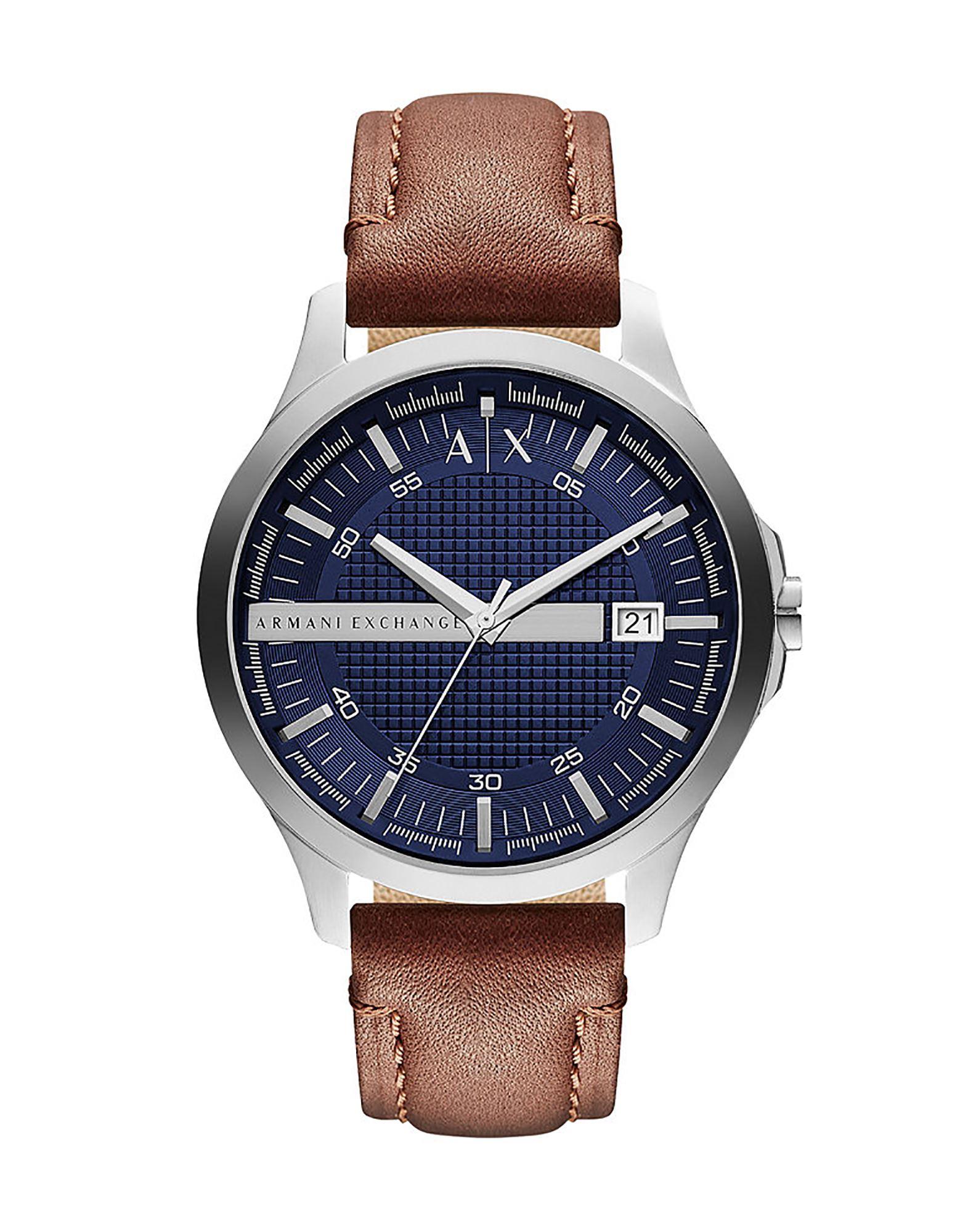 《送料無料》ARMANI EXCHANGE メンズ 腕時計 シルバー ステンレススチール / 革