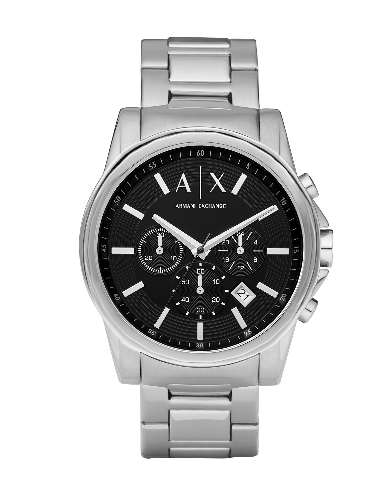 ARMANI EXCHANGE メンズ 腕時計 シルバー ステンレススチール