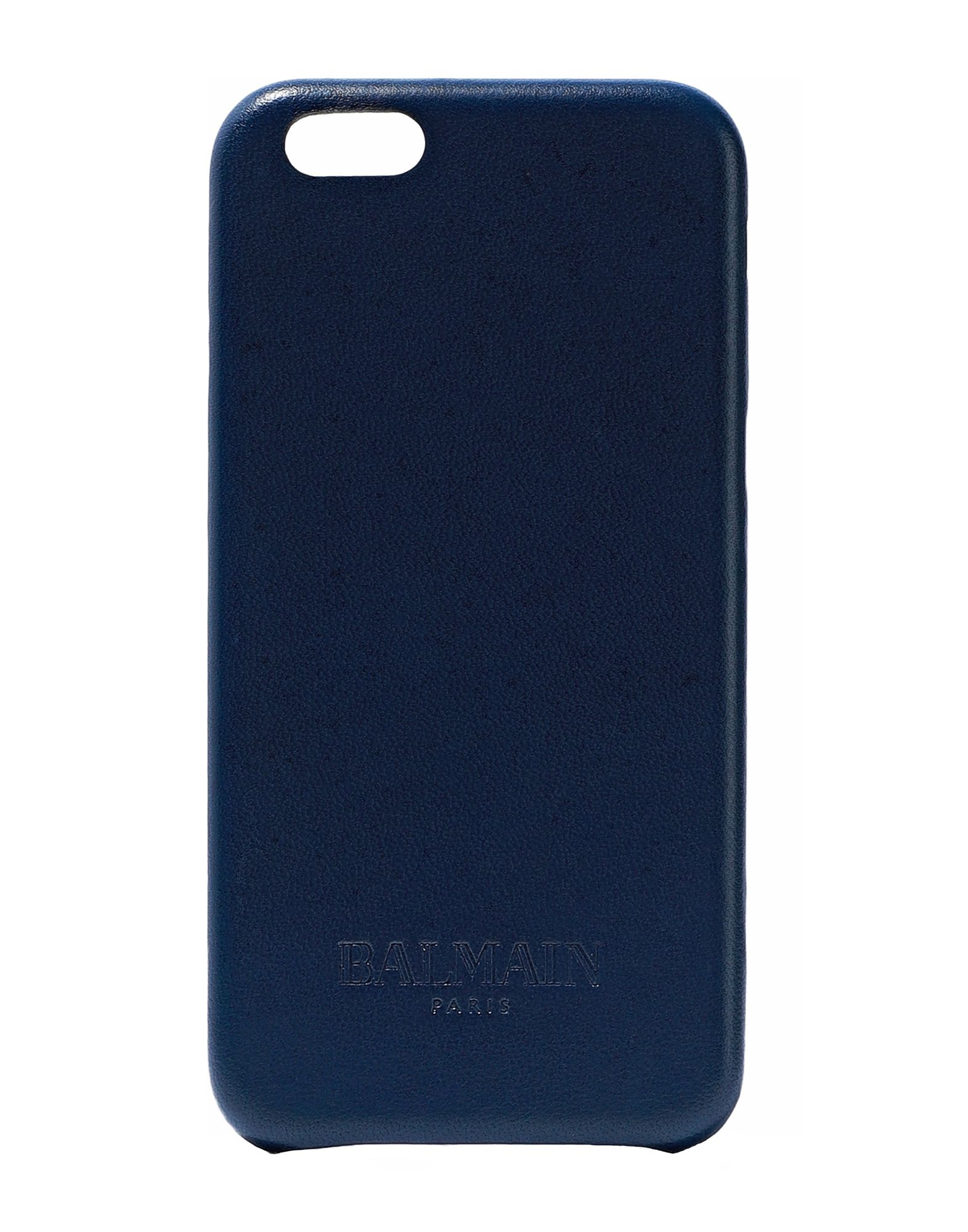 BALMAIN Covers & Cases. logo, solid color, contains non-textile parts of animal origin, phone covers. Soft Leather