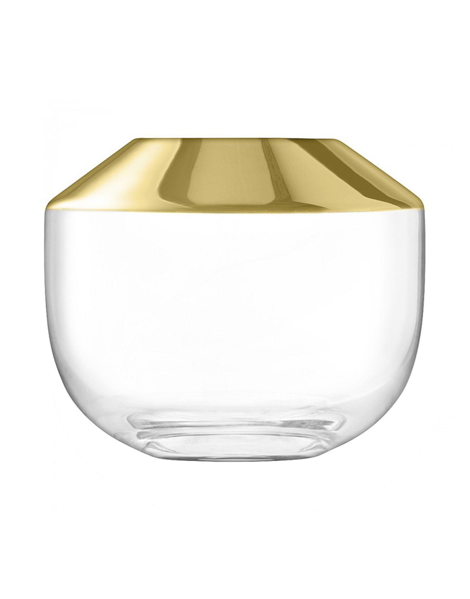 《期間限定セール開催中!》LSA Unisex ベース ゴールド ガラス Space Vase
