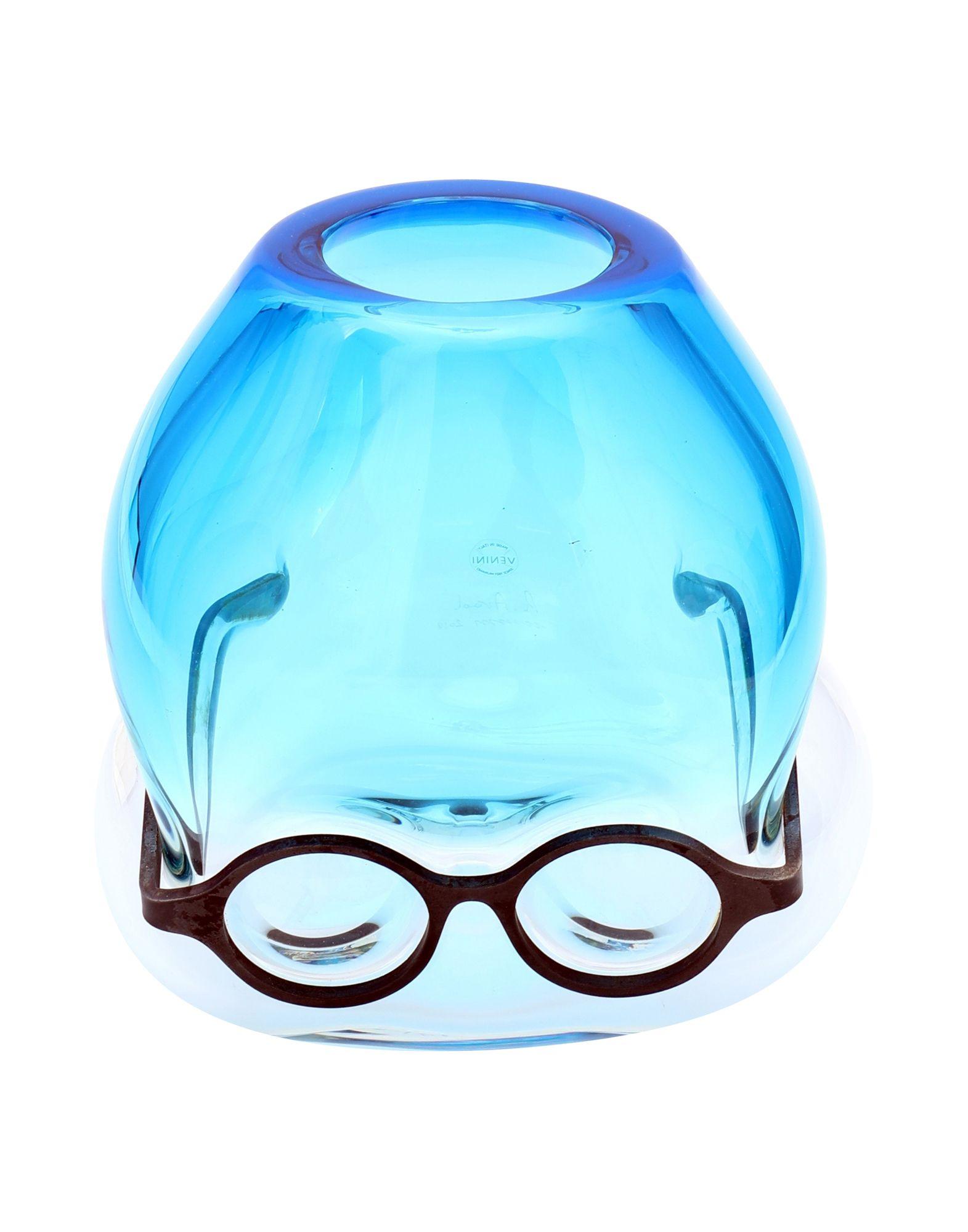 《セール開催中》VENINI Unisex ベース ブルー 吹きガラス Where are my glasses?