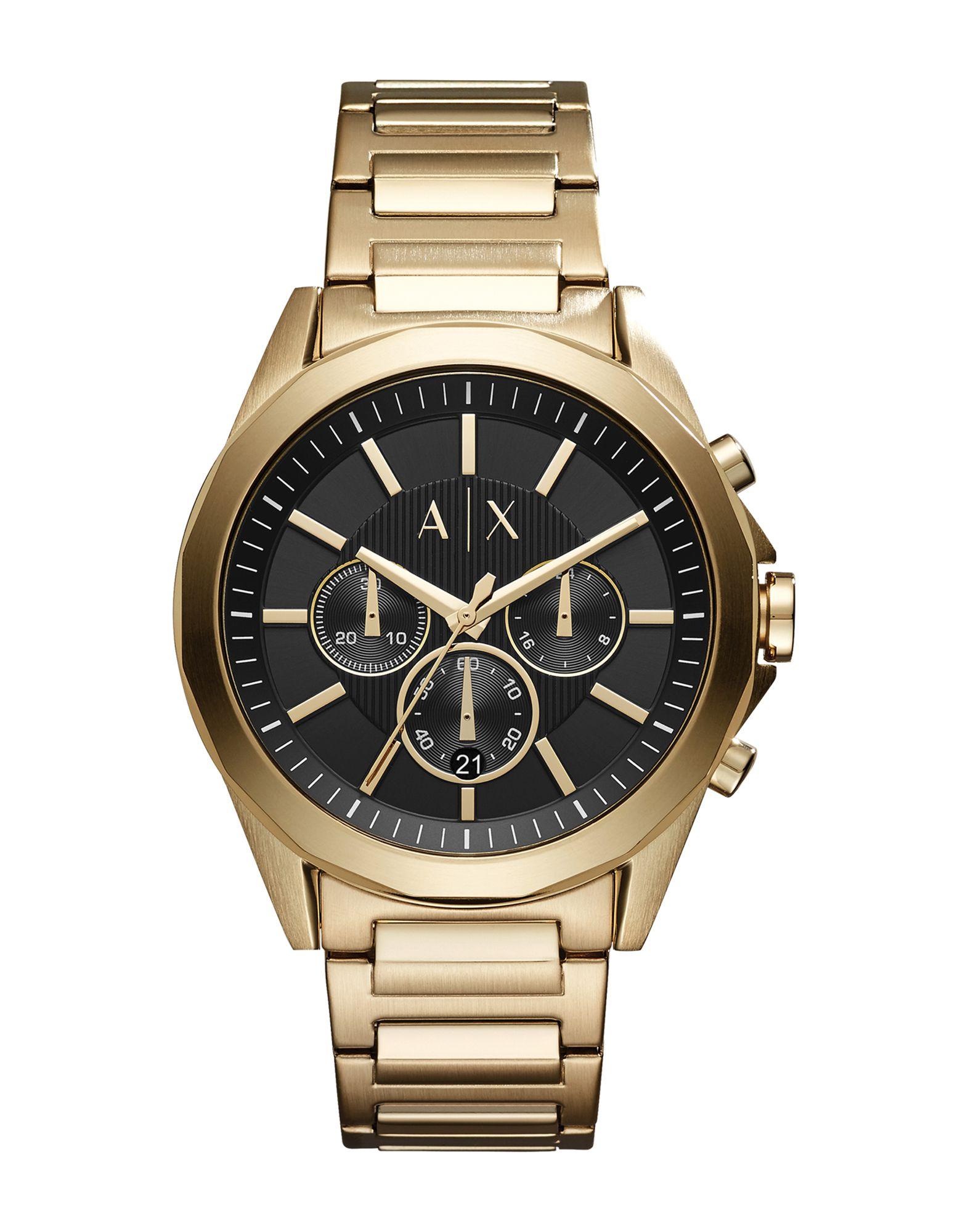 《送料無料》ARMANI EXCHANGE メンズ 腕時計 ゴールド ステンレススチール