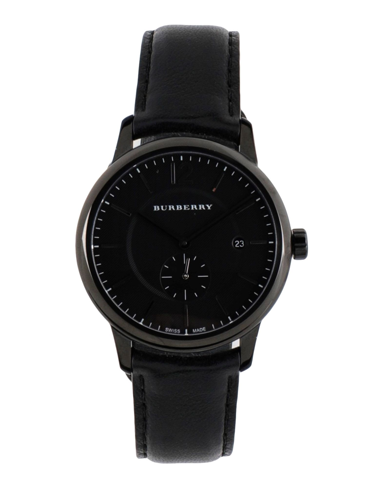《送料無料》BURBERRY レディース 腕時計 ブラック 革