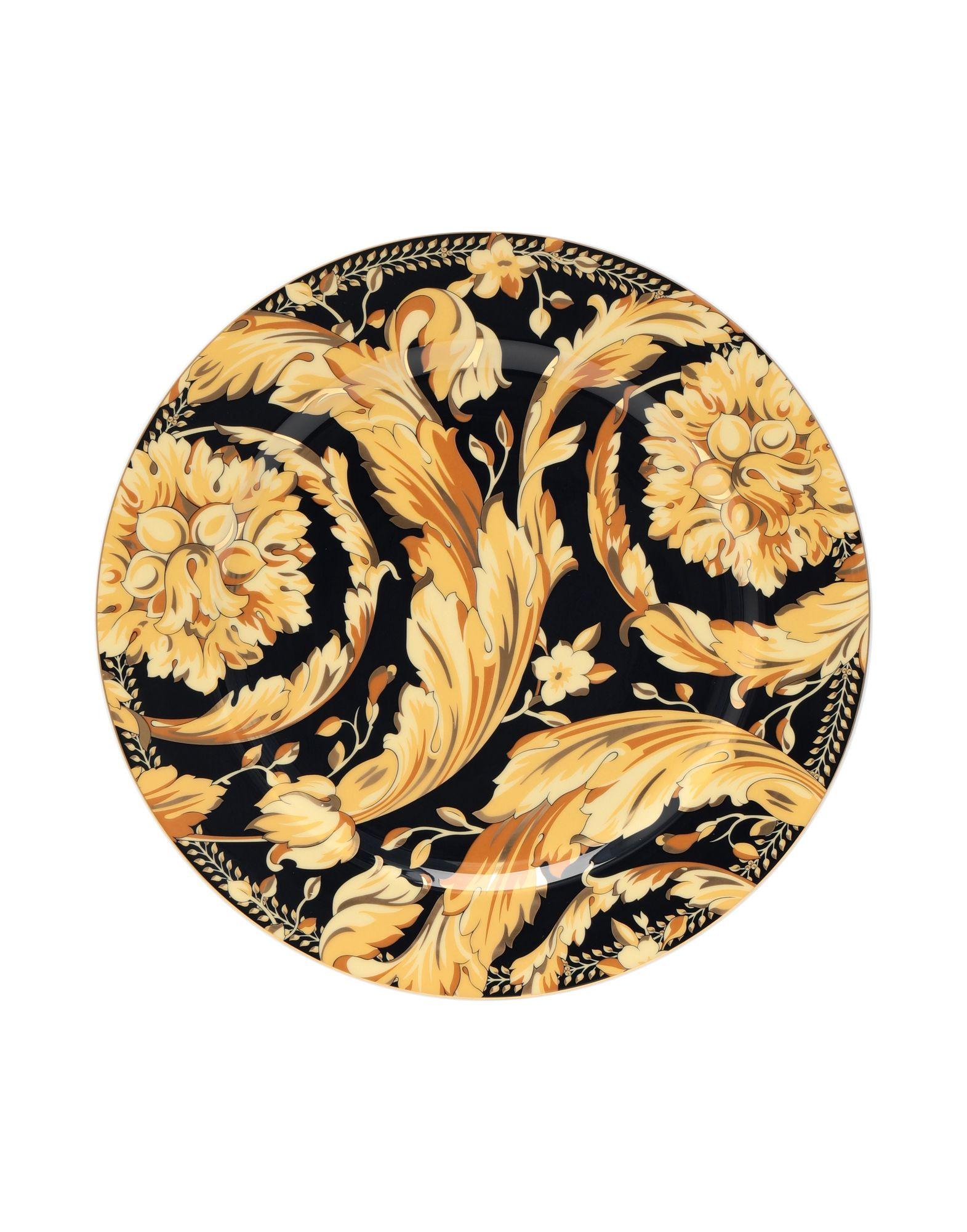 VERSACE Декоративная тарелка декоративная тарелка rich line home decor золотой лист 22 wer 5607 золотой