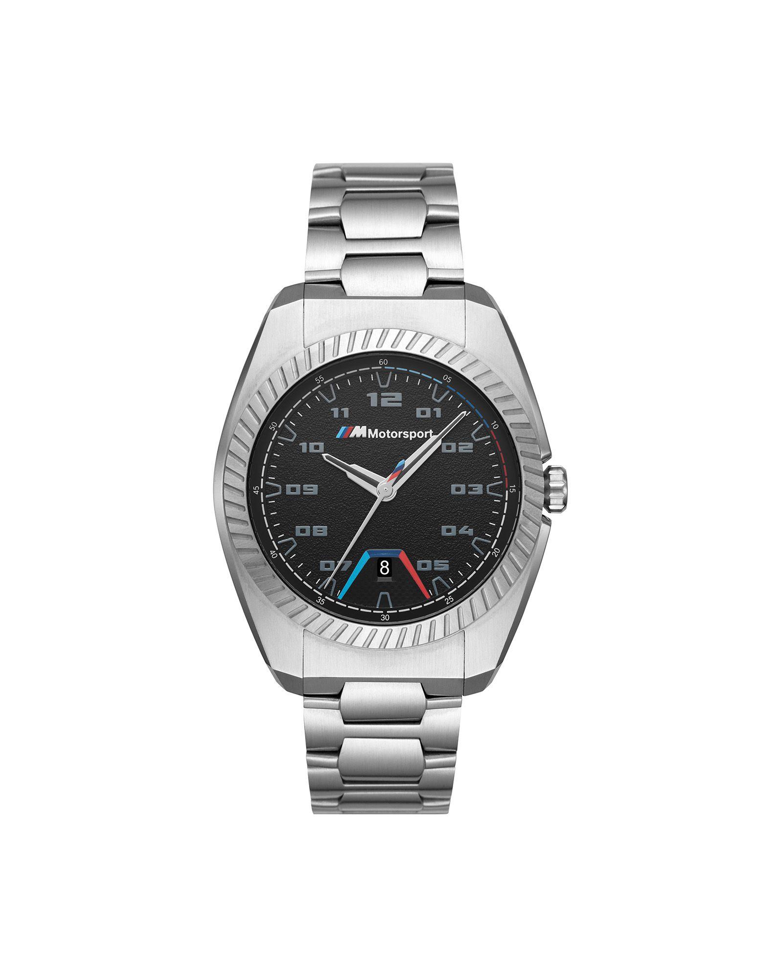 《セール開催中》BMW メンズ 腕時計 ブラック ステンレススチール MOTORSPORT