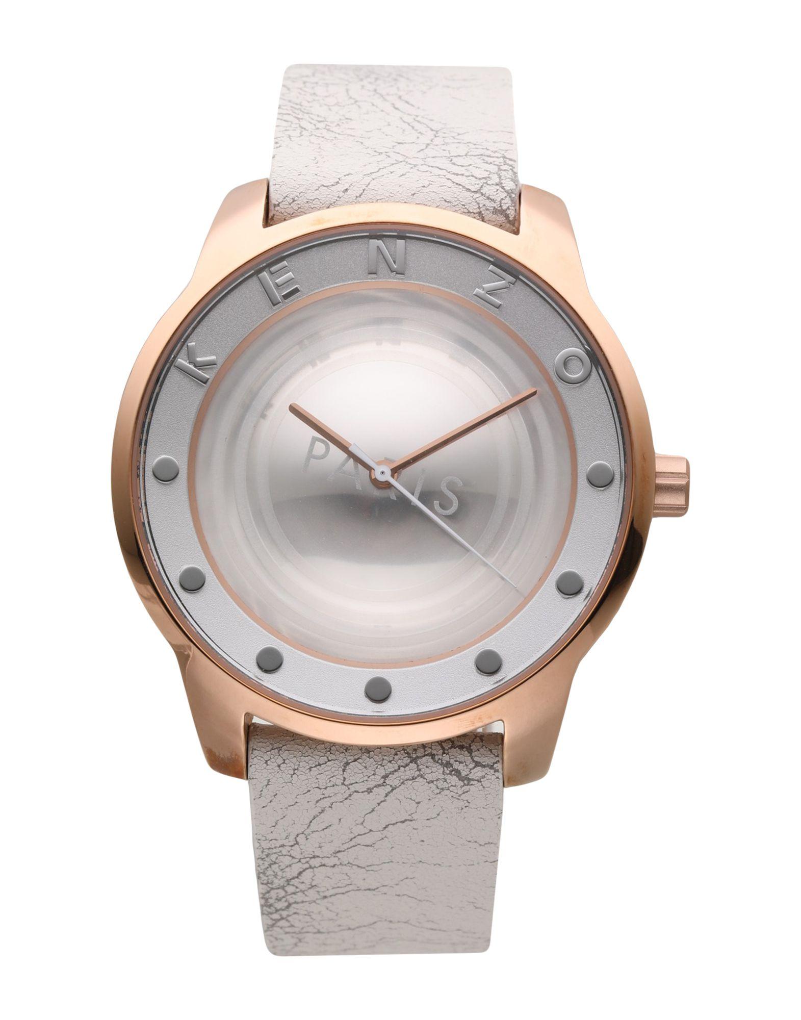 《期間限定 セール開催中》KENZO レディース 腕時計 ホワイト ステンレススチール / 革
