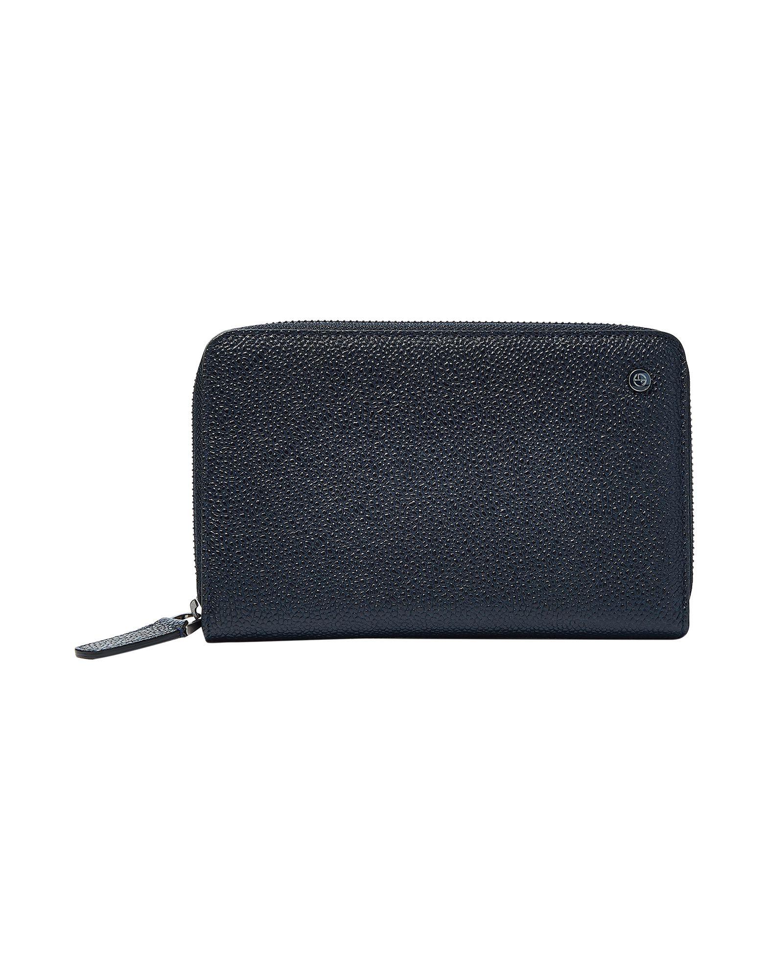 GIORGIO ARMANI Covers & Cases. solid color, contains non-textile parts of animal origin, logo. 100% Calfskin