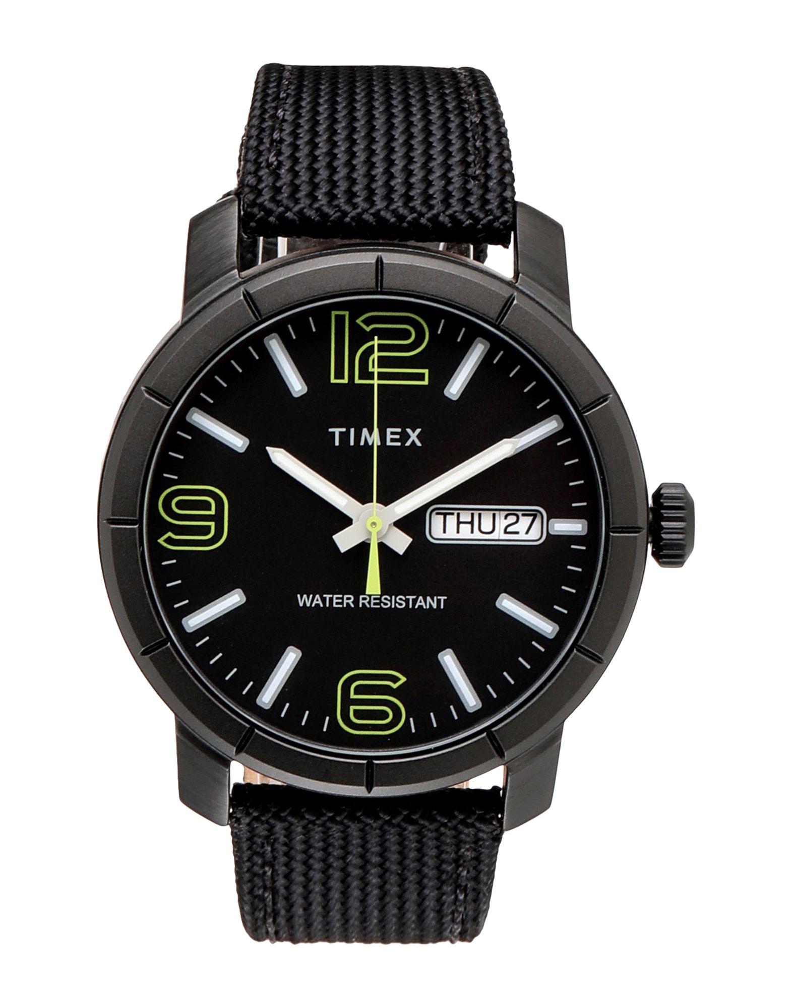 《セール開催中》TIMEX メンズ 腕時計 ブラック ナイロン MOD44