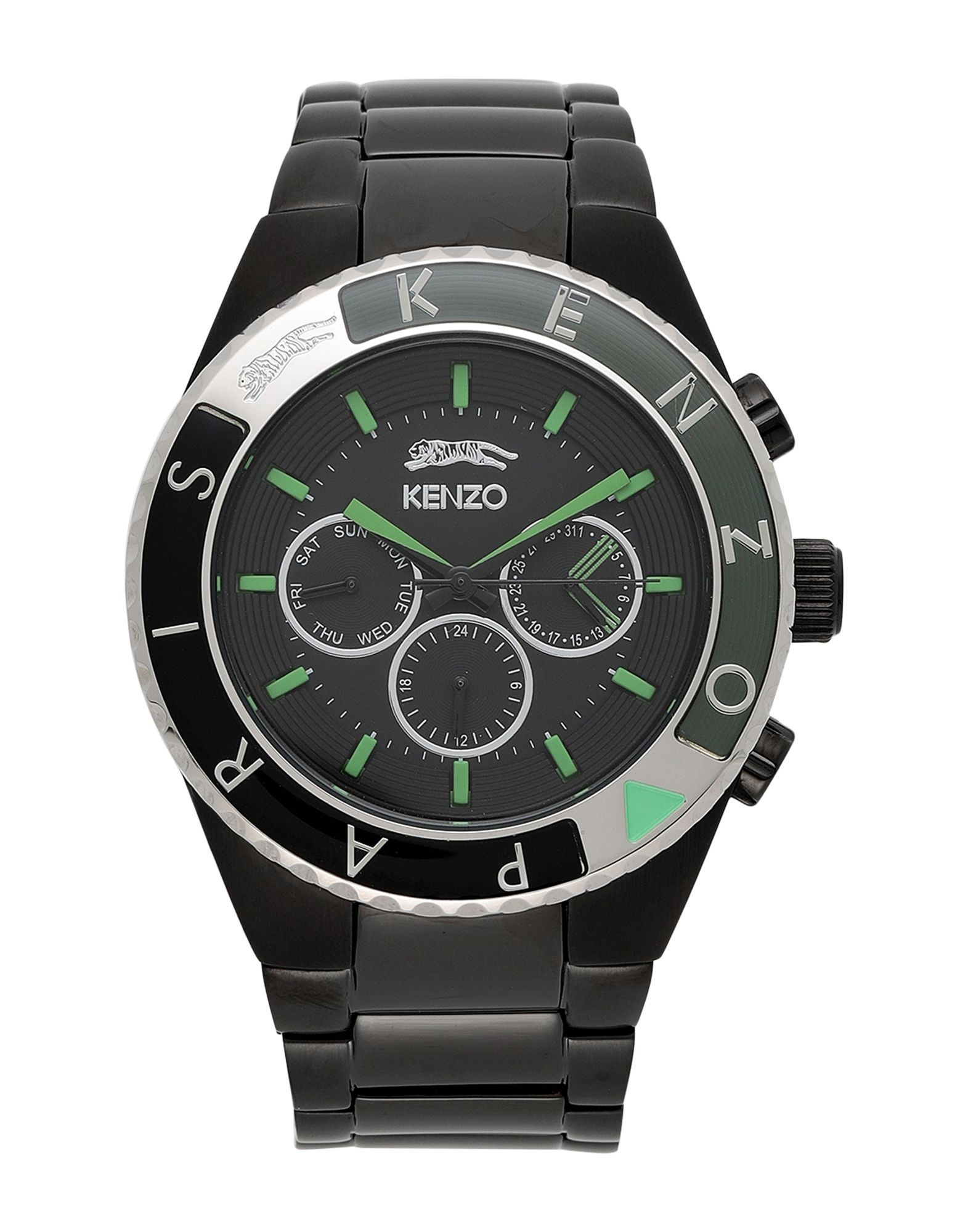 《セール開催中》KENZO メンズ 腕時計 ブラック ステンレススチール