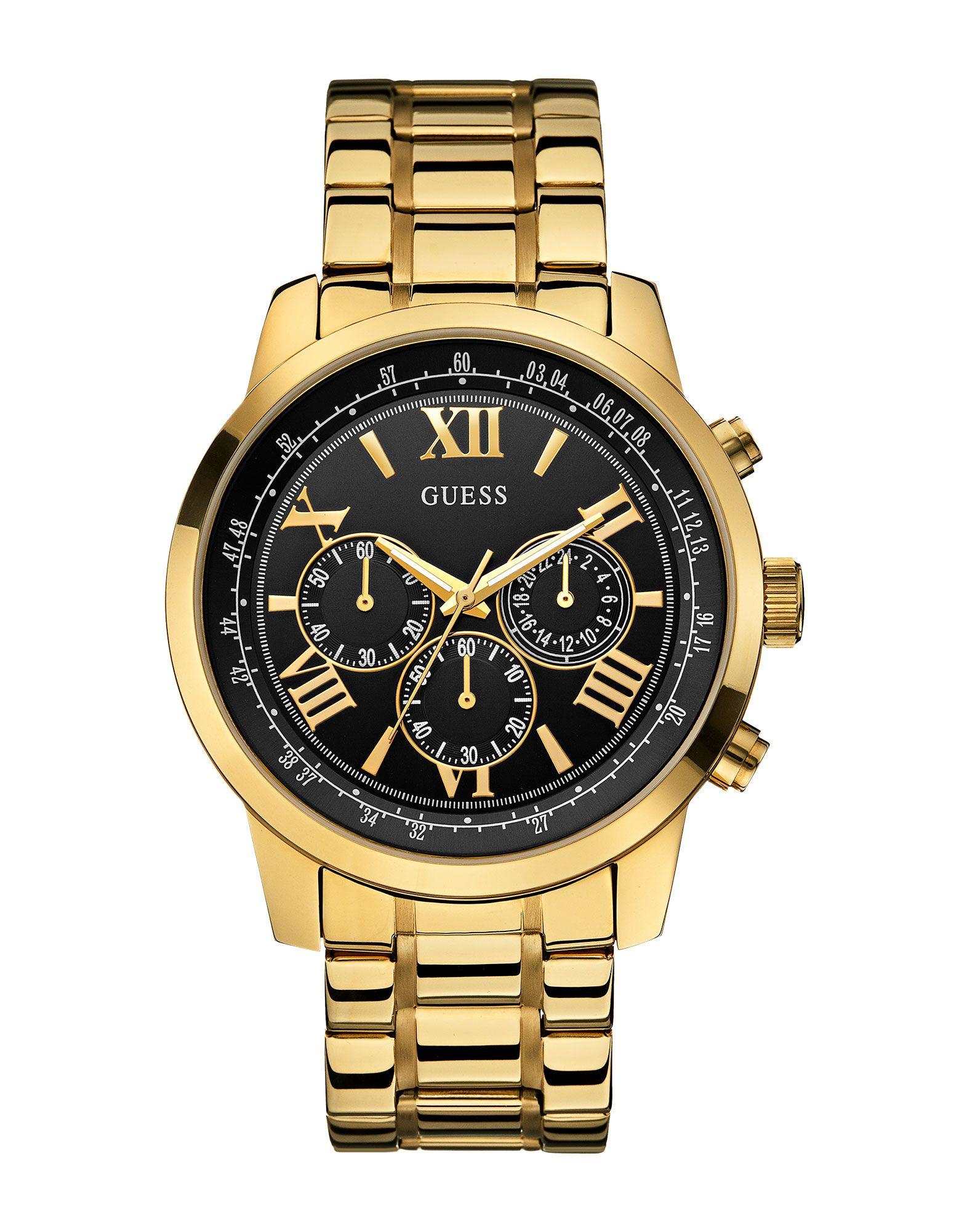 《セール開催中》GUESS メンズ 腕時計 ゴールド ステンレススチール HORIZON