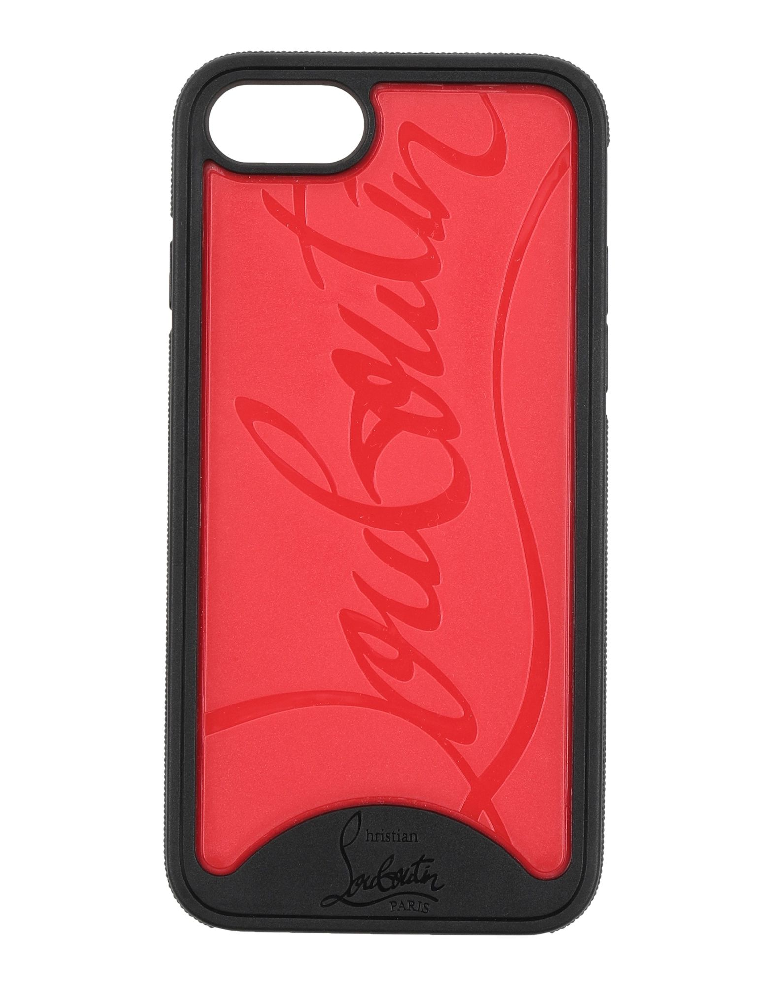CHRISTIAN LOUBOUTIN Covers & Cases. logo, two-tone, iphone 7 cover. Textile fibers