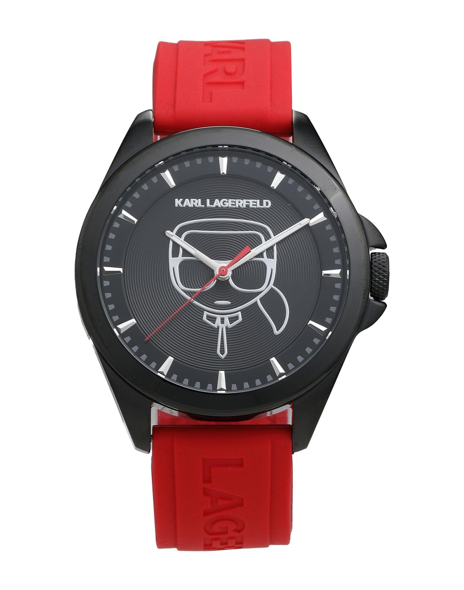 《セール開催中》KARL LAGERFELD メンズ 腕時計 レッド ステンレススチール / シリコン KARL IKONIK SILICONE STRAP