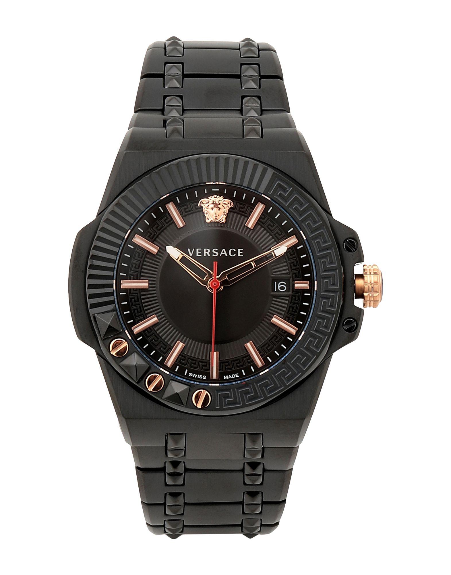 《セール開催中》VERSACE メンズ 腕時計 ブラック ステンレススチール CHAIN REACTION