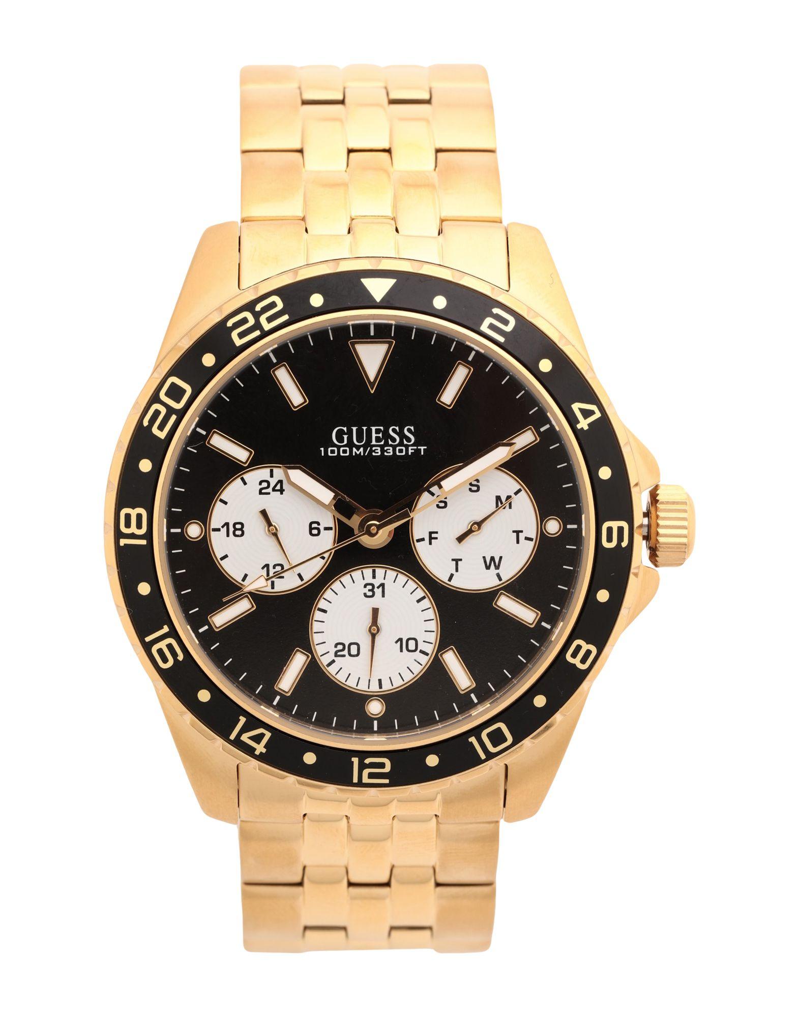 《セール開催中》GUESS メンズ 腕時計 ゴールド ステンレススチール MENS SPORT