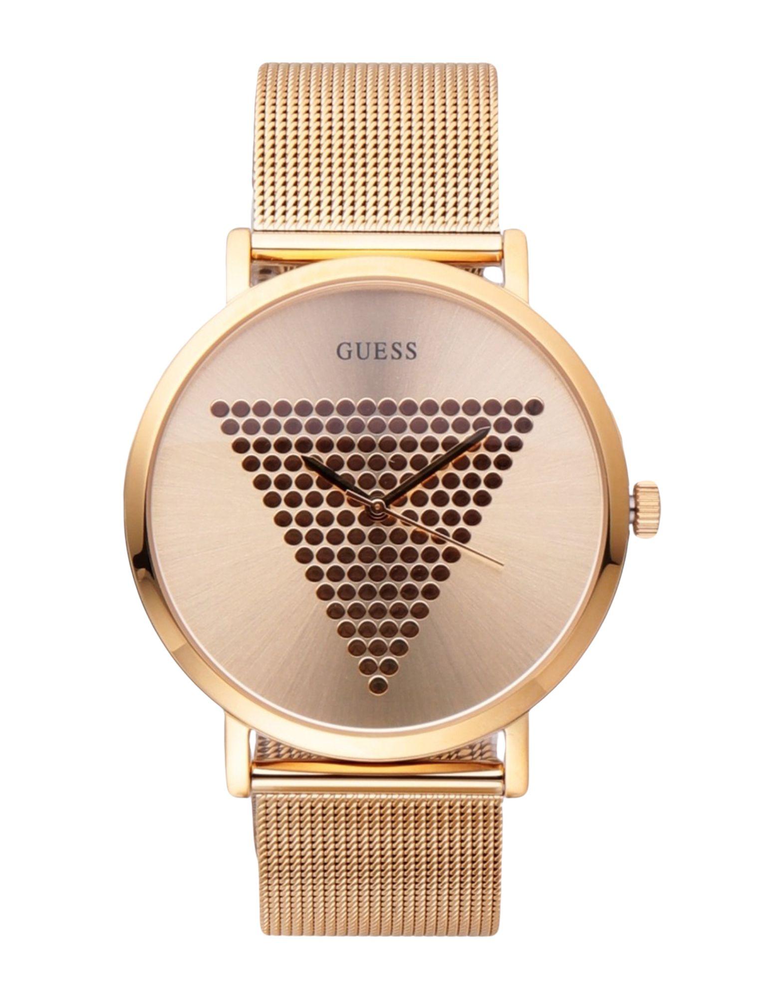 《セール開催中》GUESS メンズ 腕時計 ゴールド ステンレススチール MENS TREND
